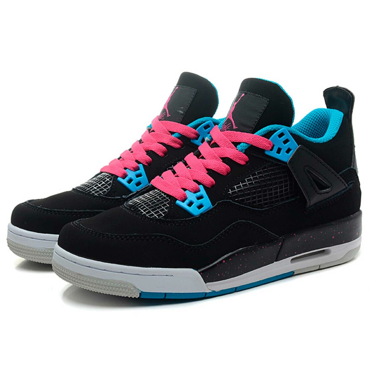 nike air jordan 4 retro black dynamic blue pink 487724-019 купить