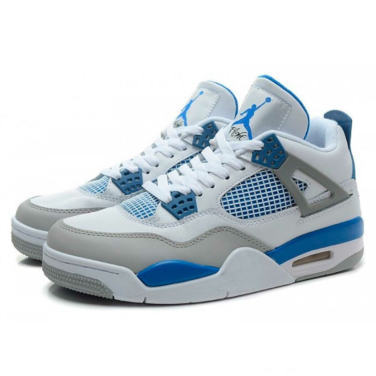 nike air jordan 4 retro white military blue grey 308497-105 интернет магазин