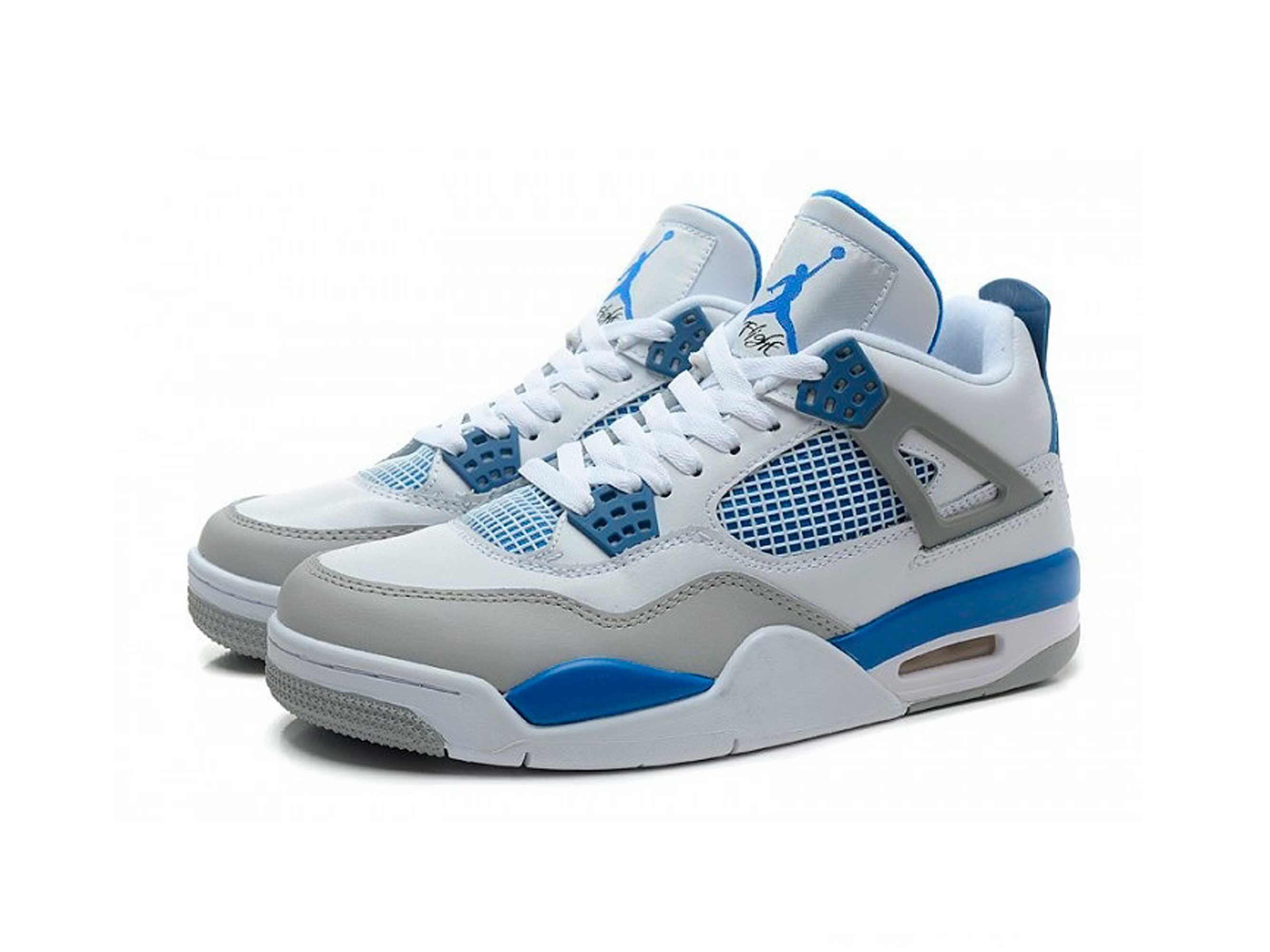 nike air jordan 4 retro white military blue grey 308497-105 интернет магазин