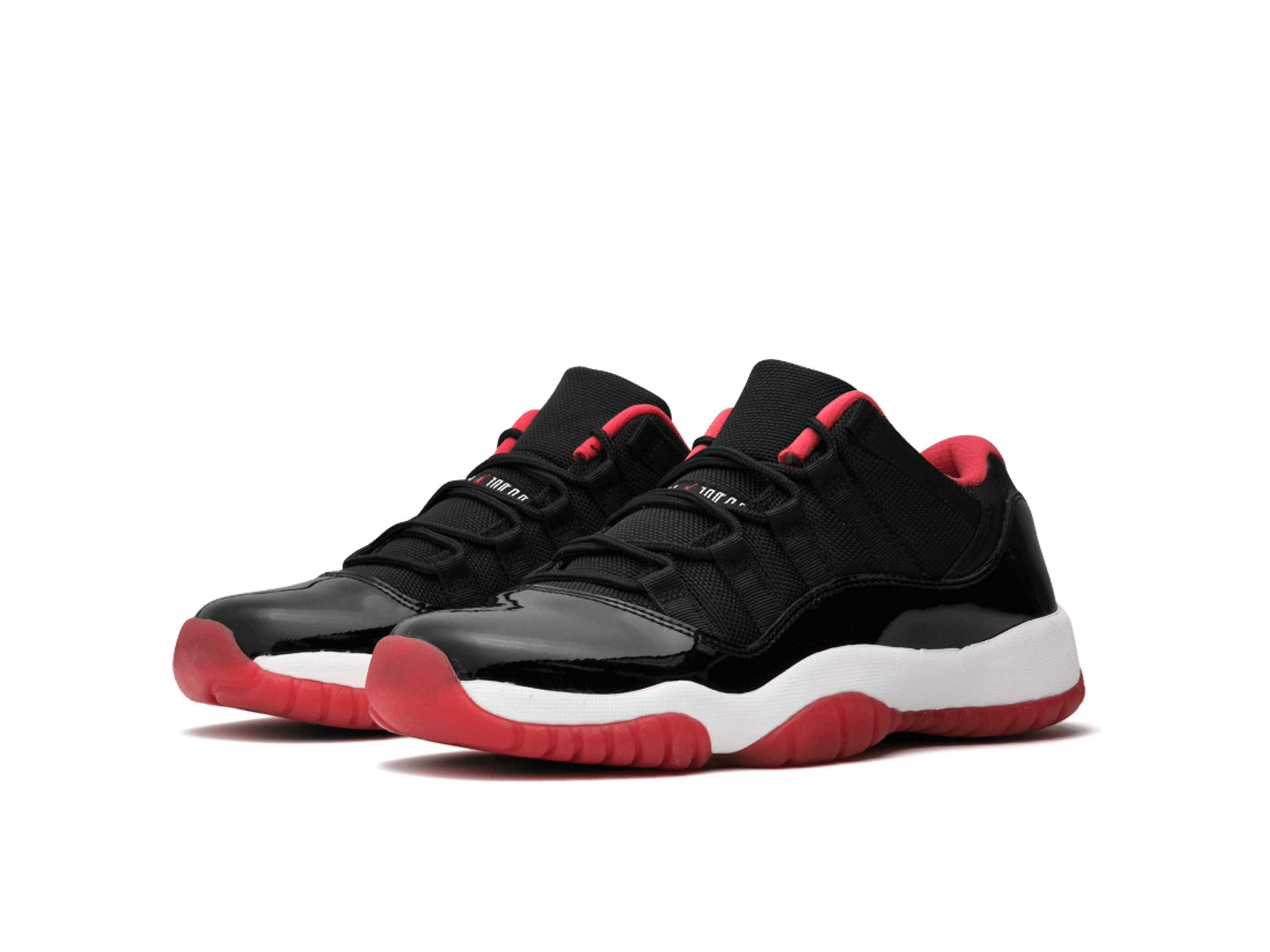 nike air Jordan 11 retro low bg black red 528896_012 купить