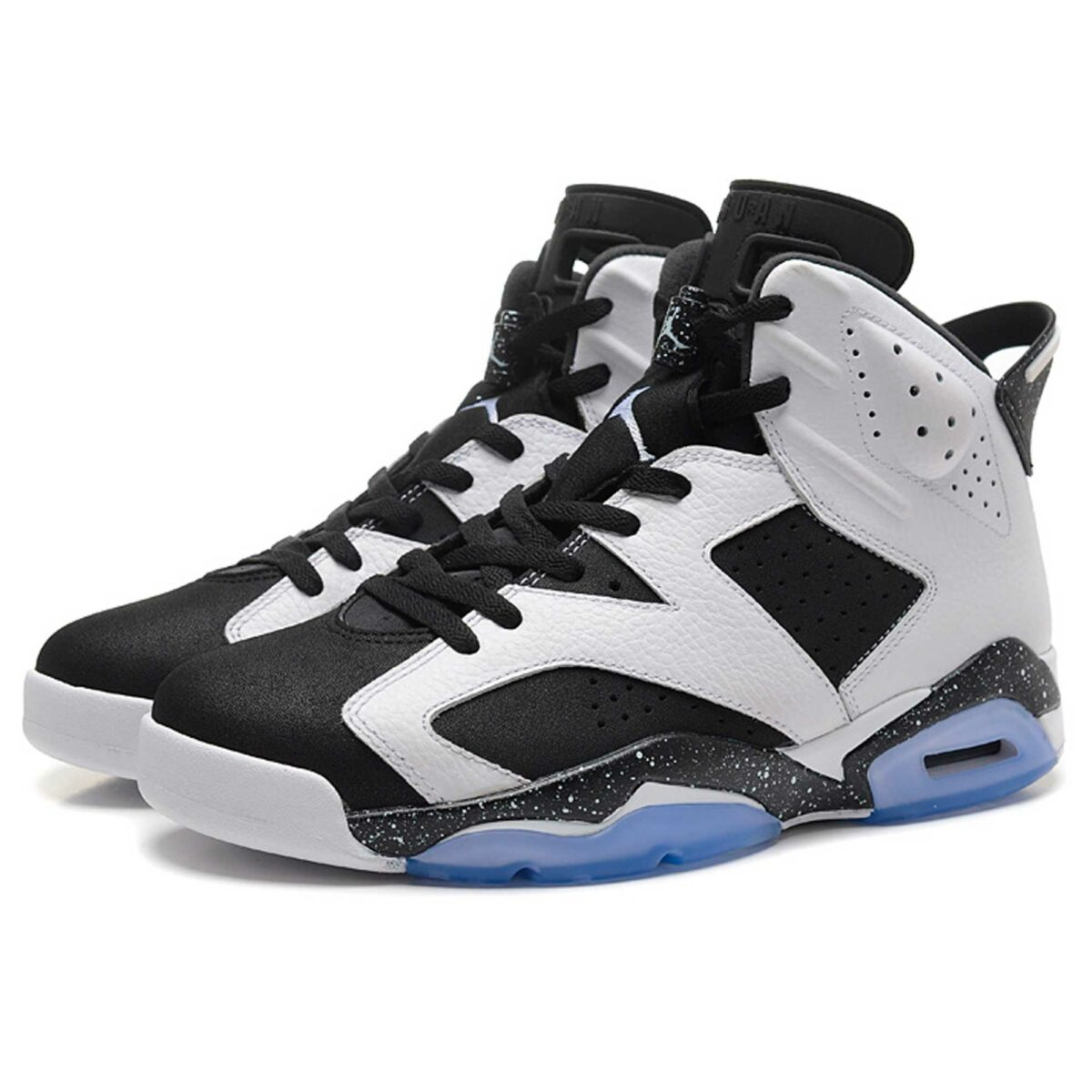 nike air jordan 6 retro black white oreo cool grey 384664-101 интернет магазин