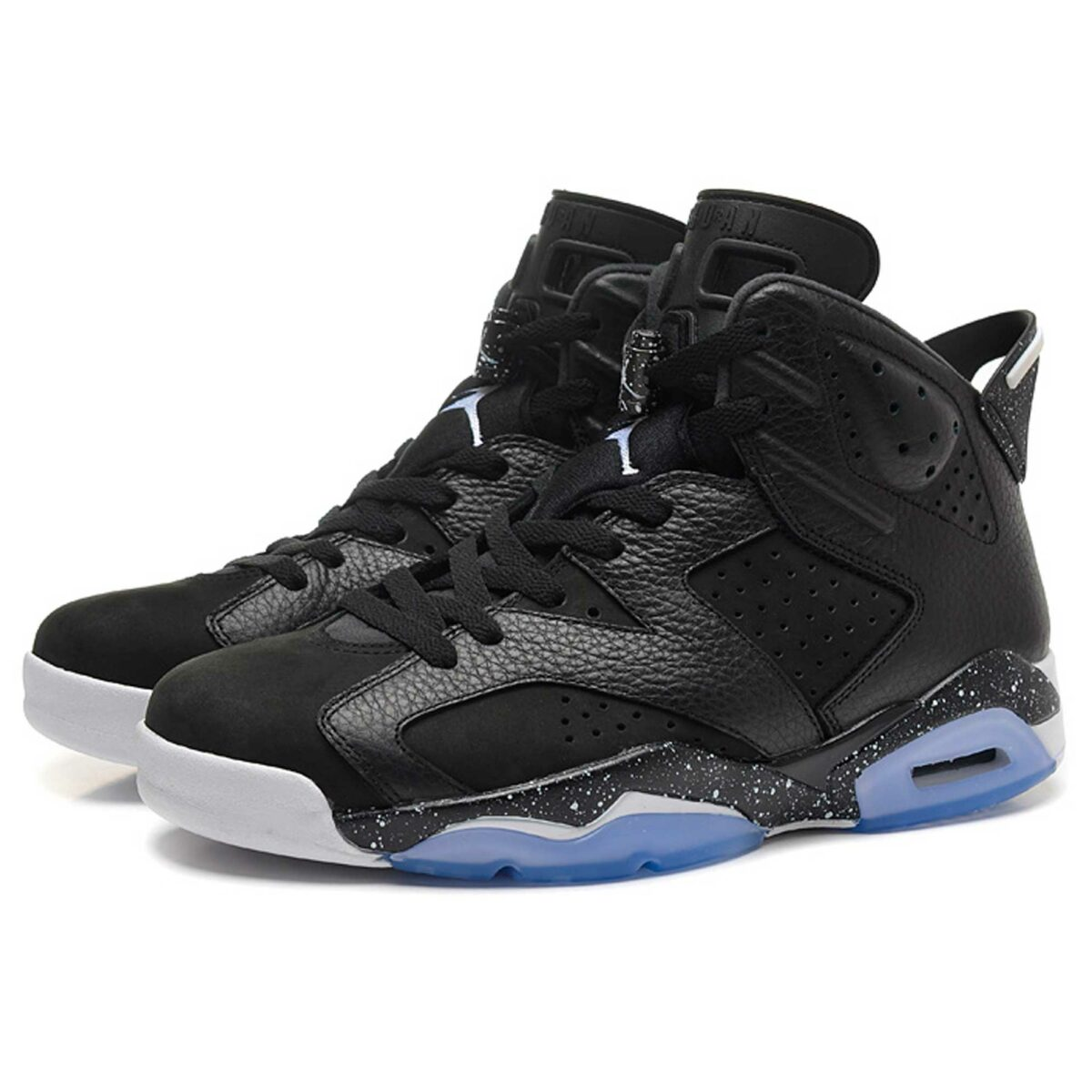 nike air jordan retro 6 UNC black university blue 384664-006 купить