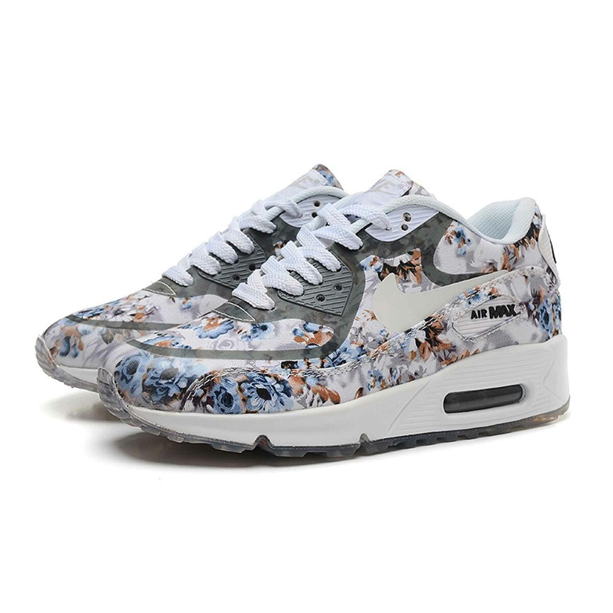 Купить Nike Air Max 90 Floral Grey Rose
