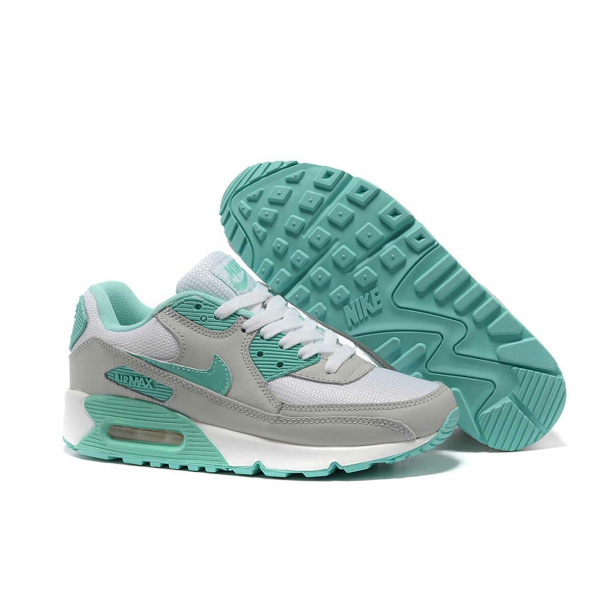 nike air max 90 grey mint купить