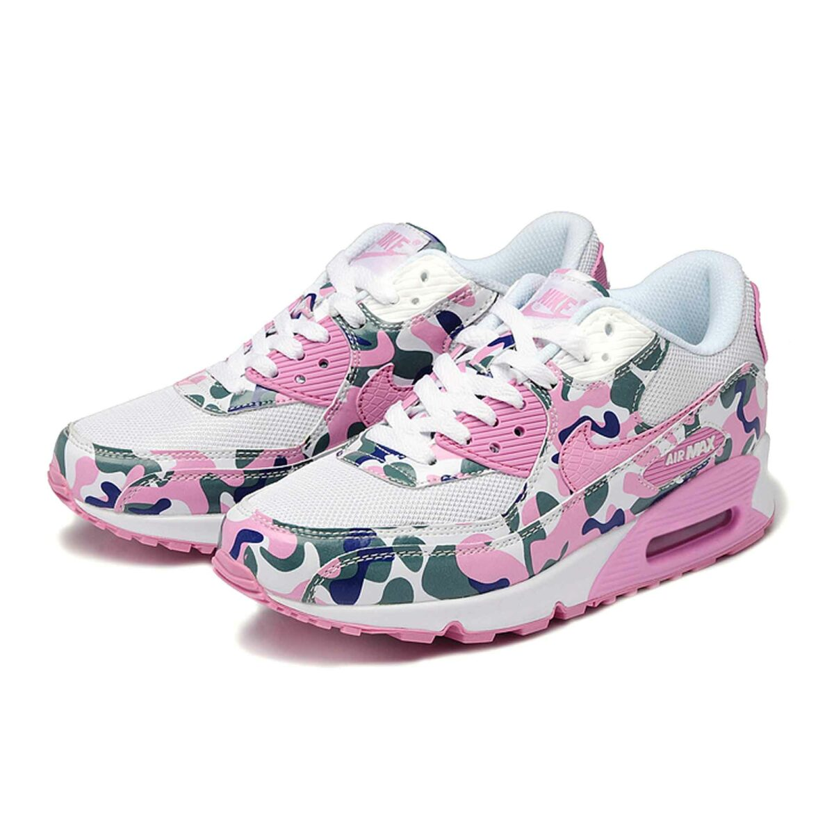 nike air max 90 white grey rose camouflage купить