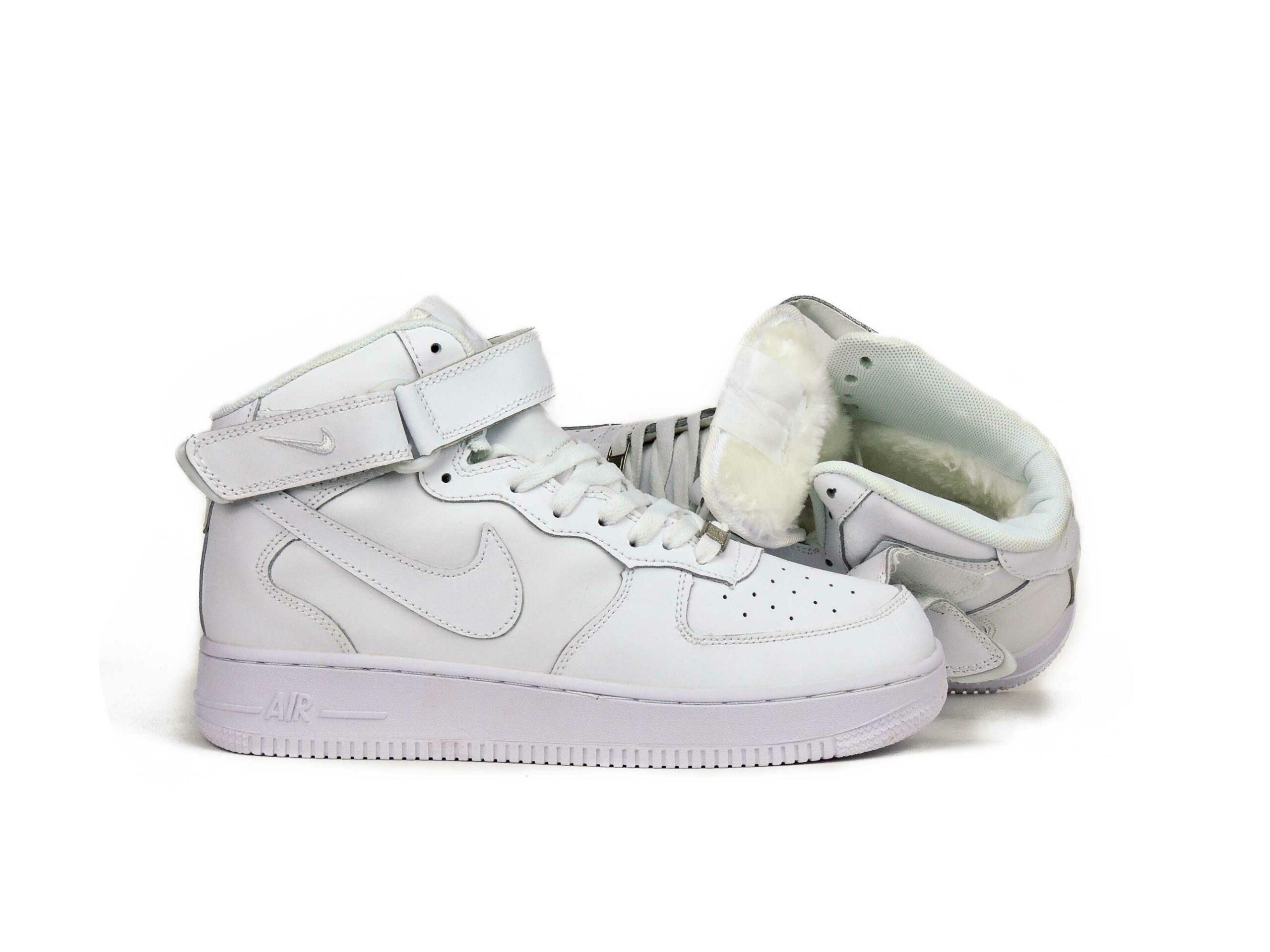 nike air force 1 white mid winter 334031_611 купить