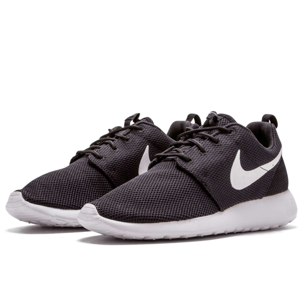 nike roshe run black white 511882_019 купить