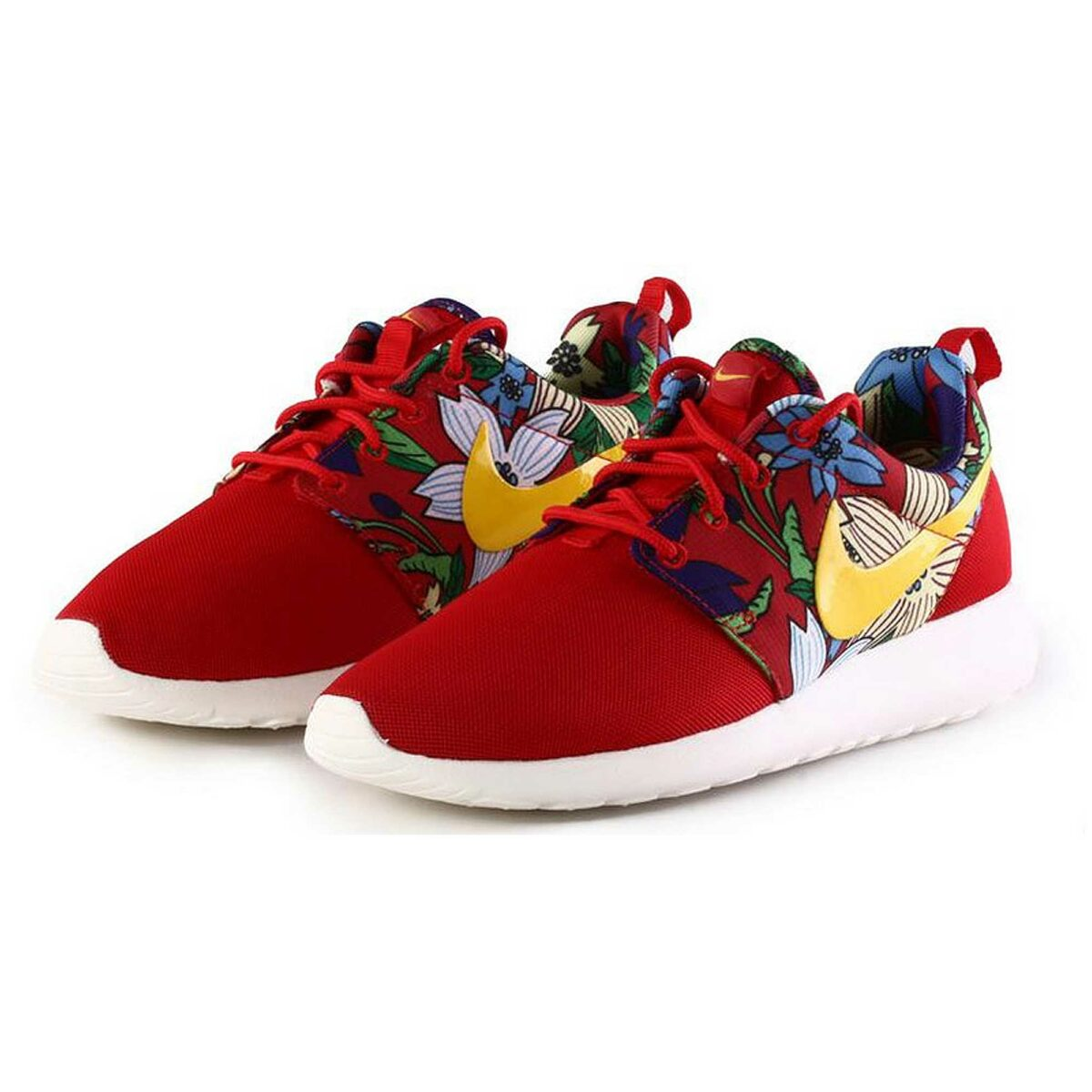 nike roshe run print red купить