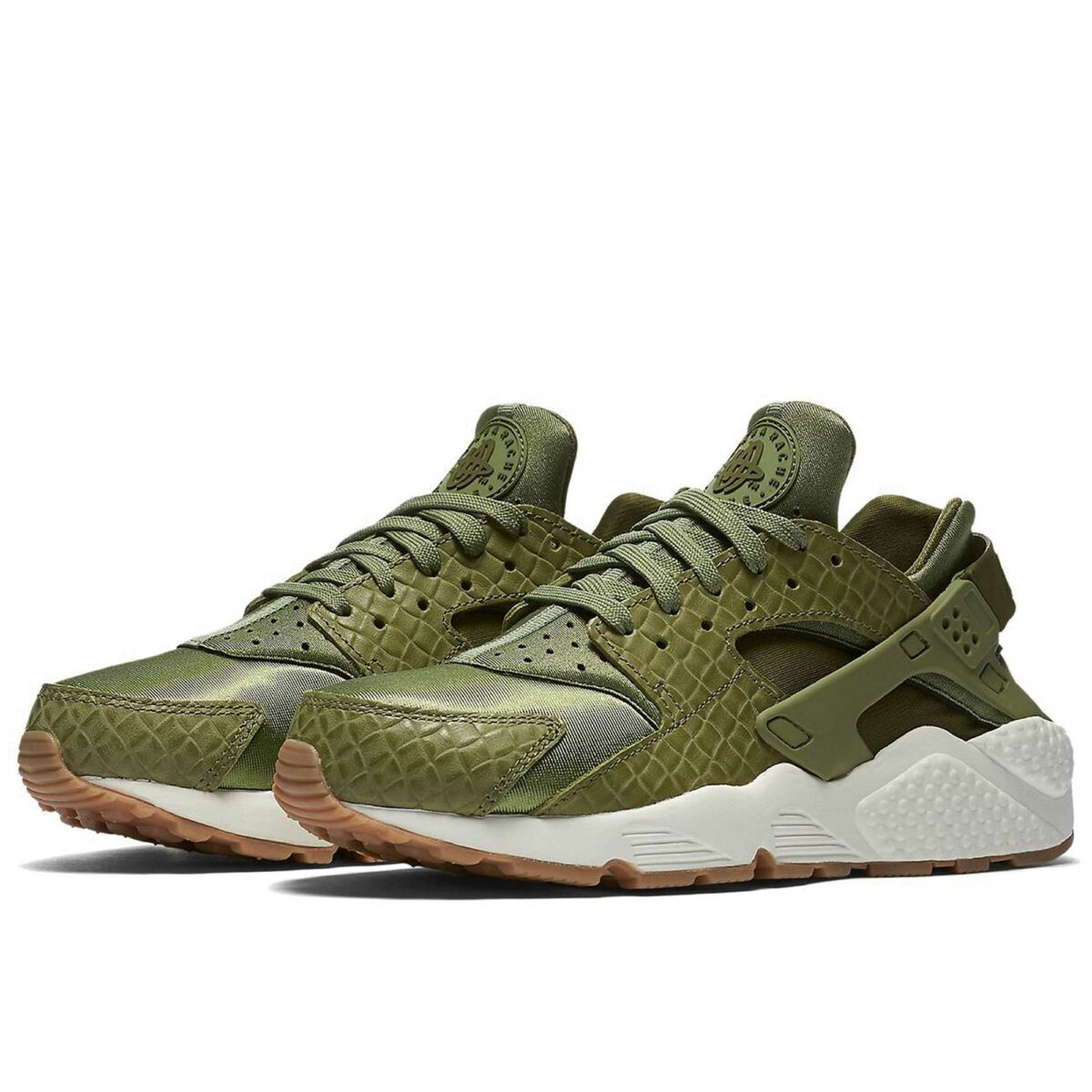 nike air huarache run premium green sail 683818_300 купить
