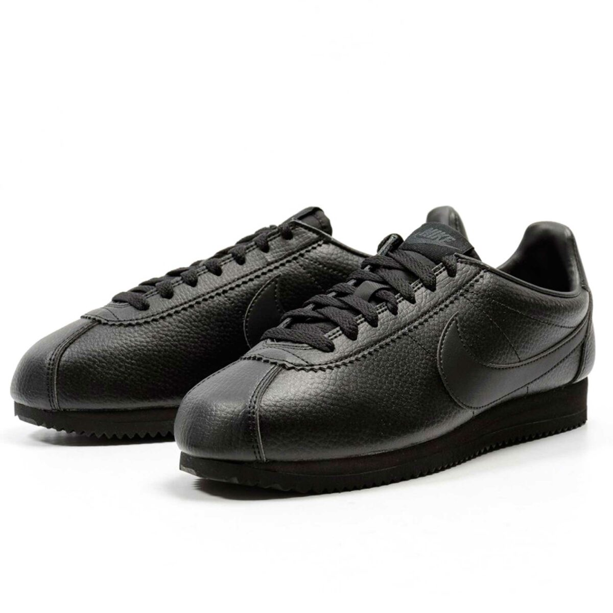 nike cortez leather all black 749571_002 купить