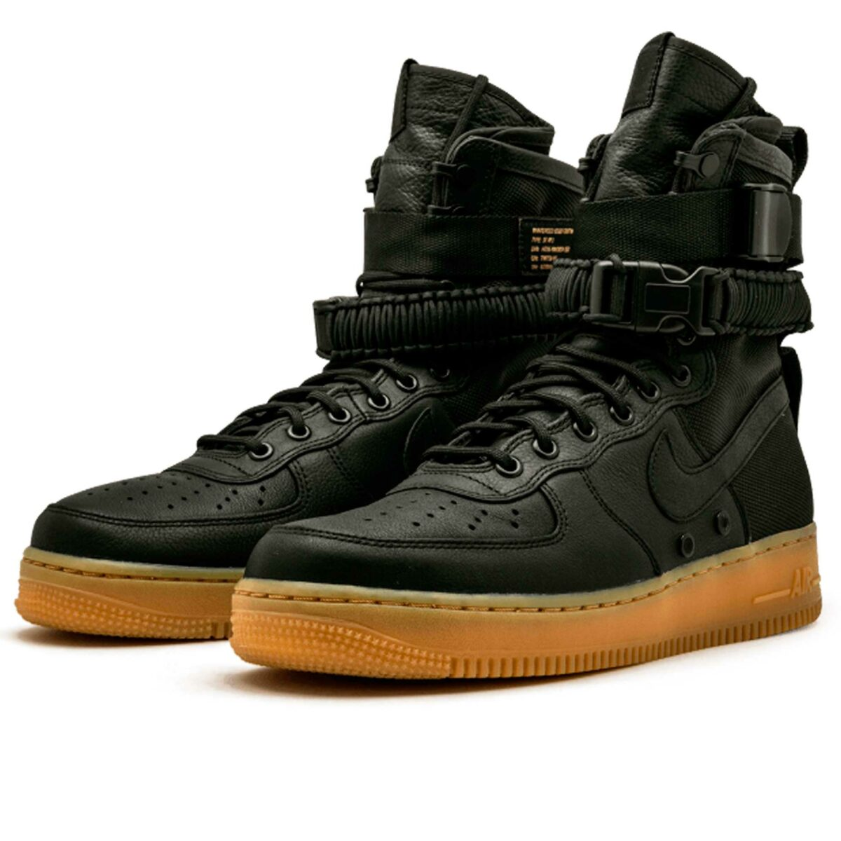 nike sf air force 1 black gum 859202-009 купить