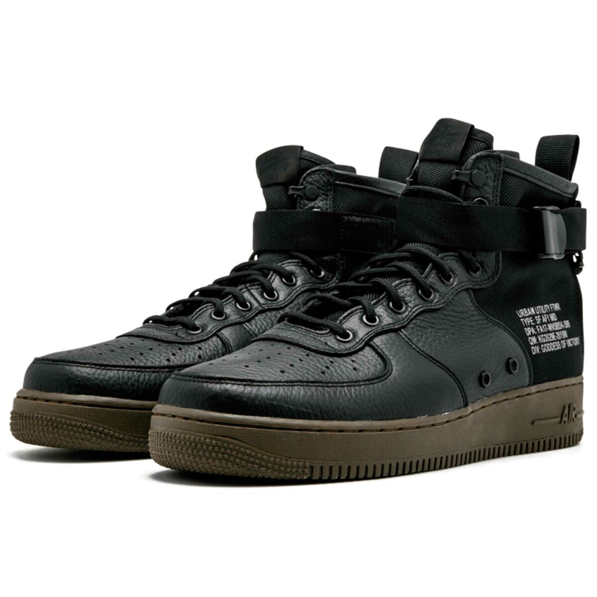 nike sf air force 1 mid black 917753-002 купить