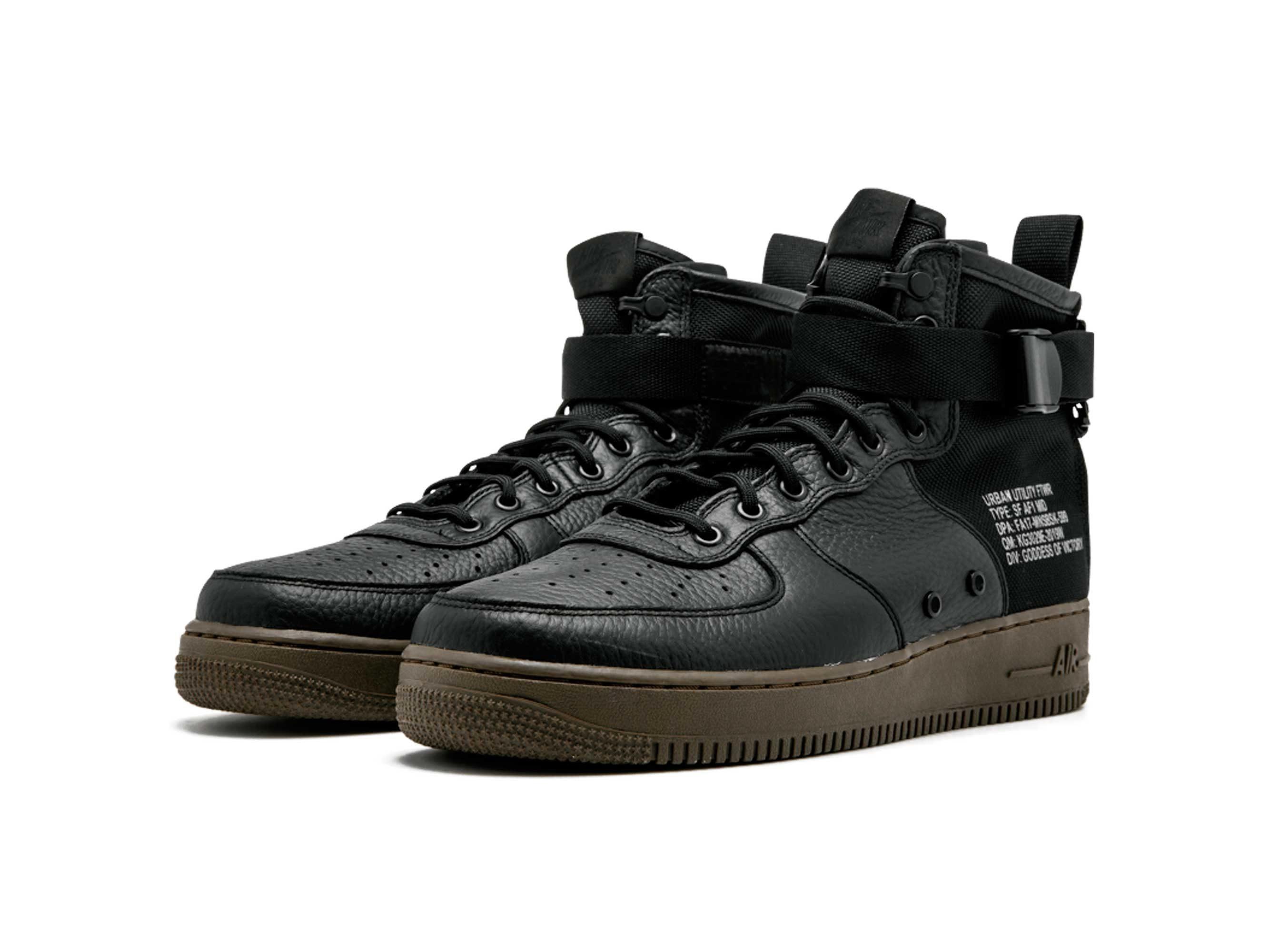 nike sf air force 1 mid black917753-002 купить