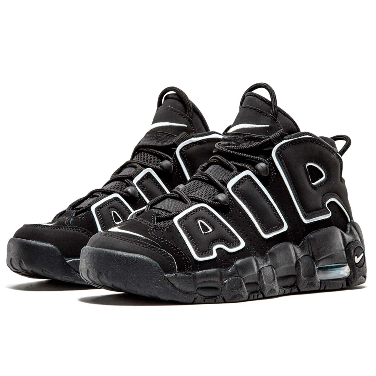 nike air more uptempo GS black white 415082-002 купить