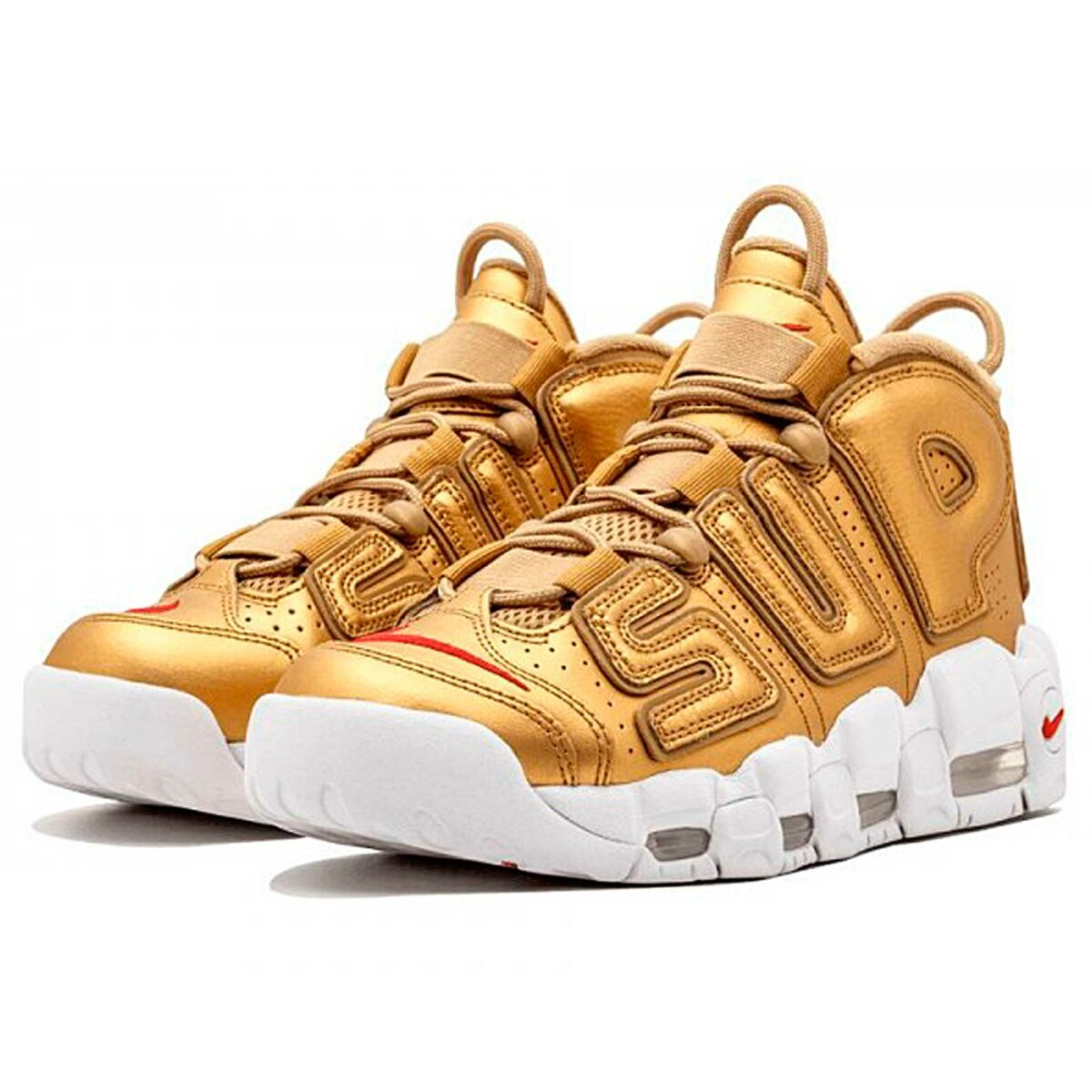 nike air more uptempo supreme metallic gold white 902290-700 купить