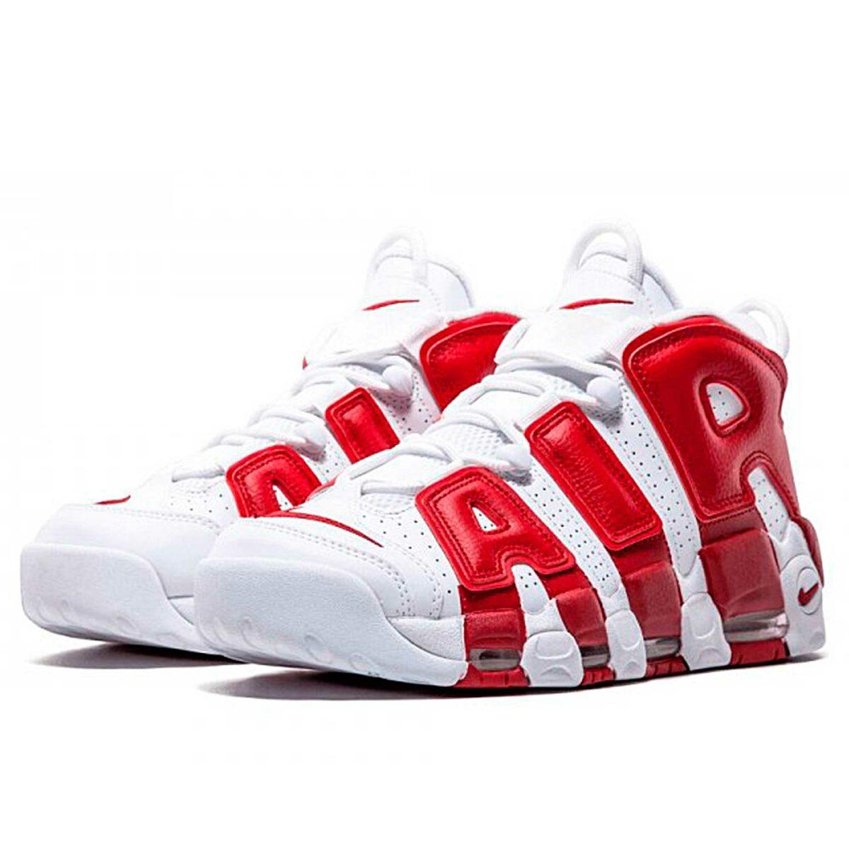 nike air more uptempo white gym red 414962-100 купить