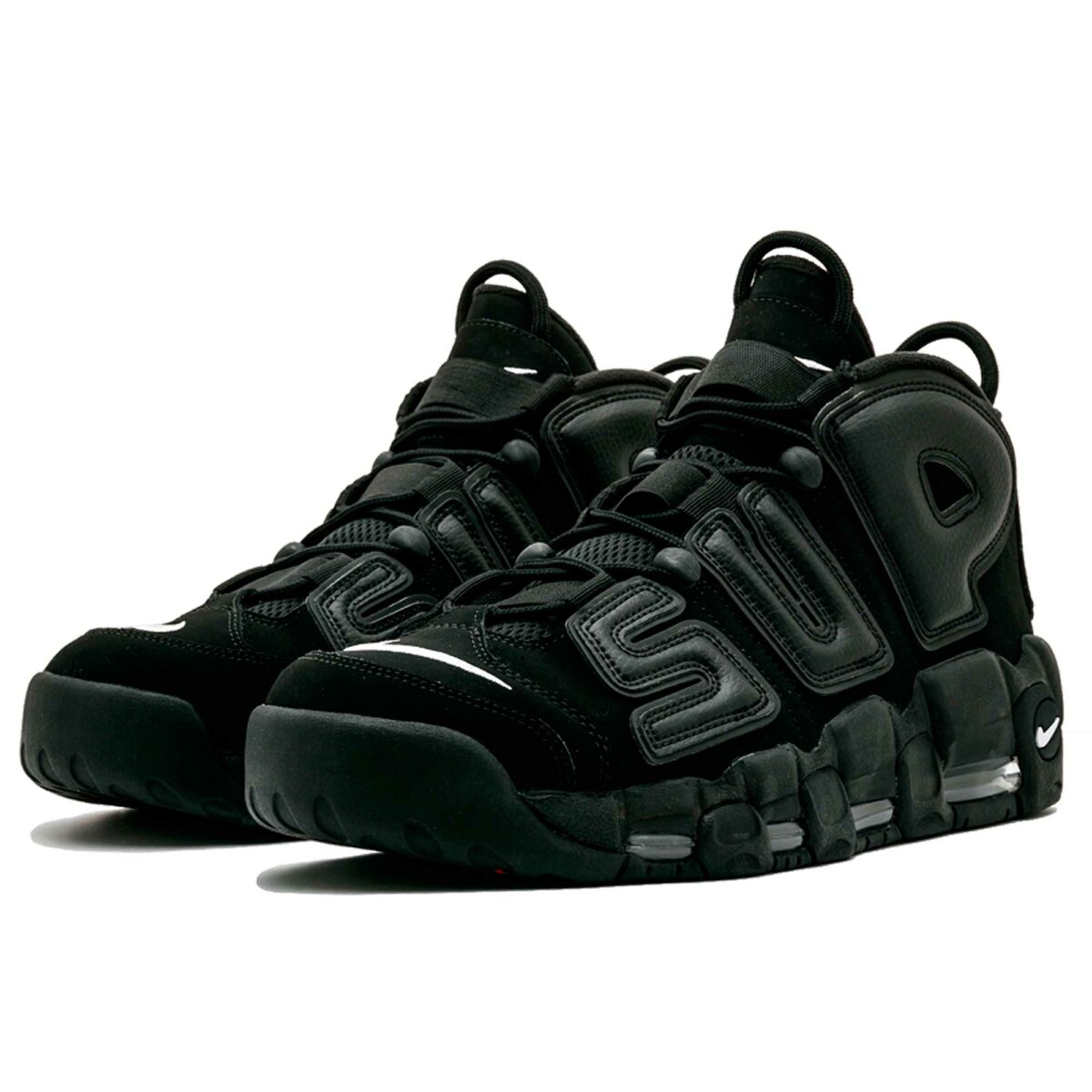nike air more uptempo supreme all black 902290-001 купить