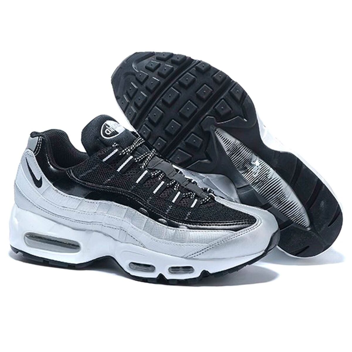 nike air max 95 black grey купить