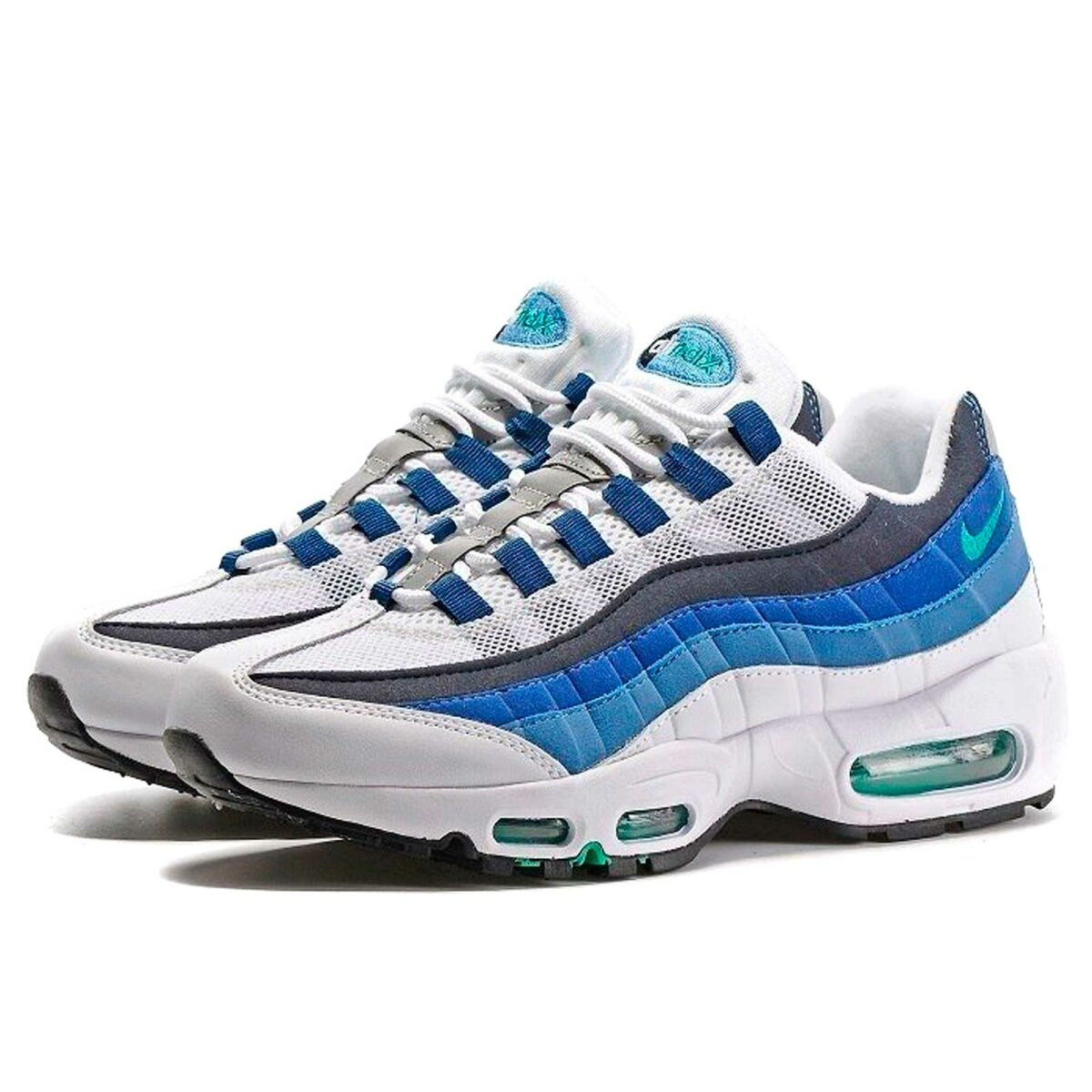 nike air max 95 blue green купить