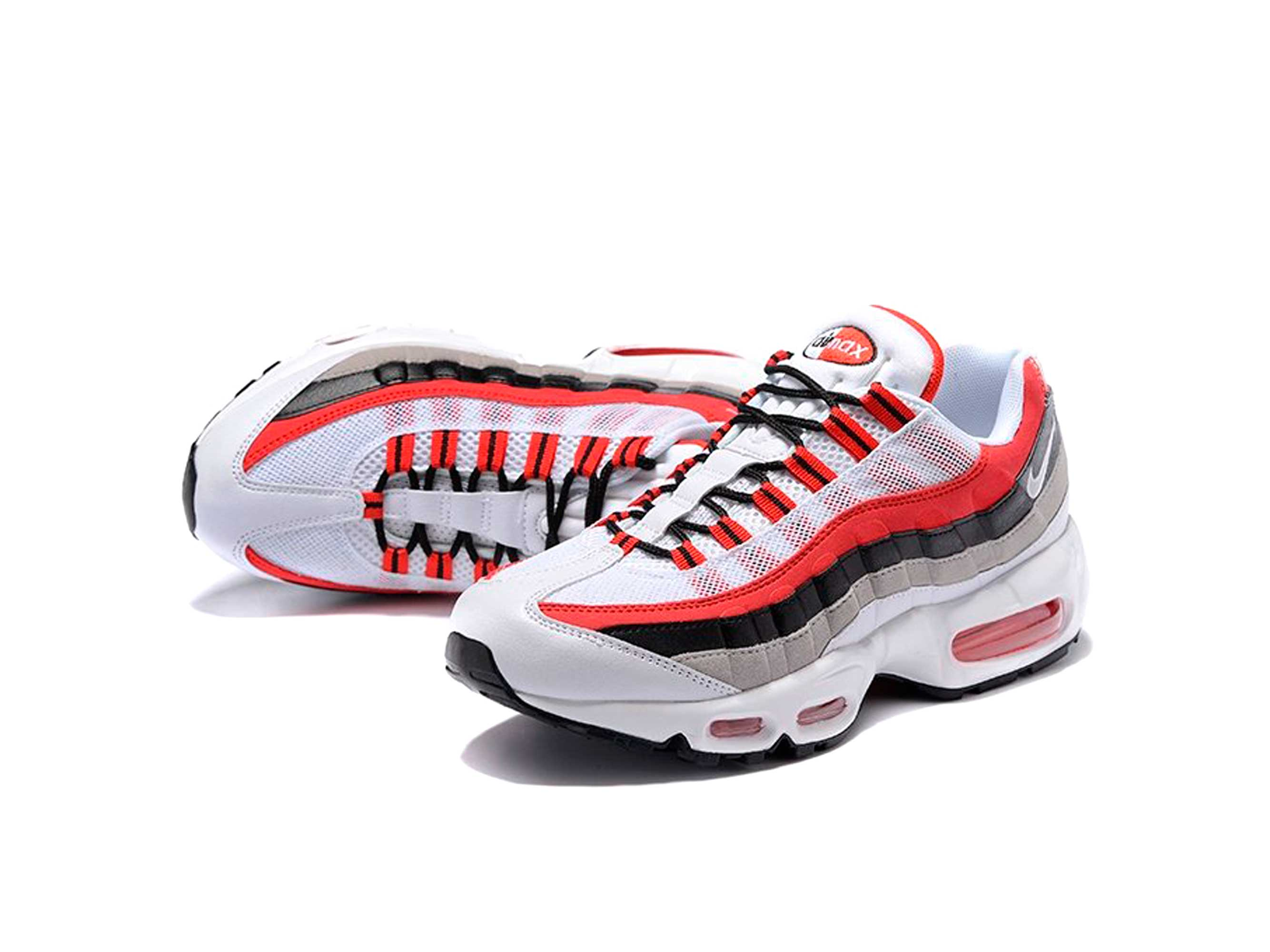 nike air max 95 black white red ⋆ Nike Интернет Магазин