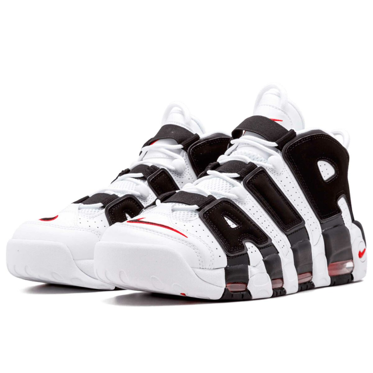 nike air more uptempo white black unversity red 414962-105 купить