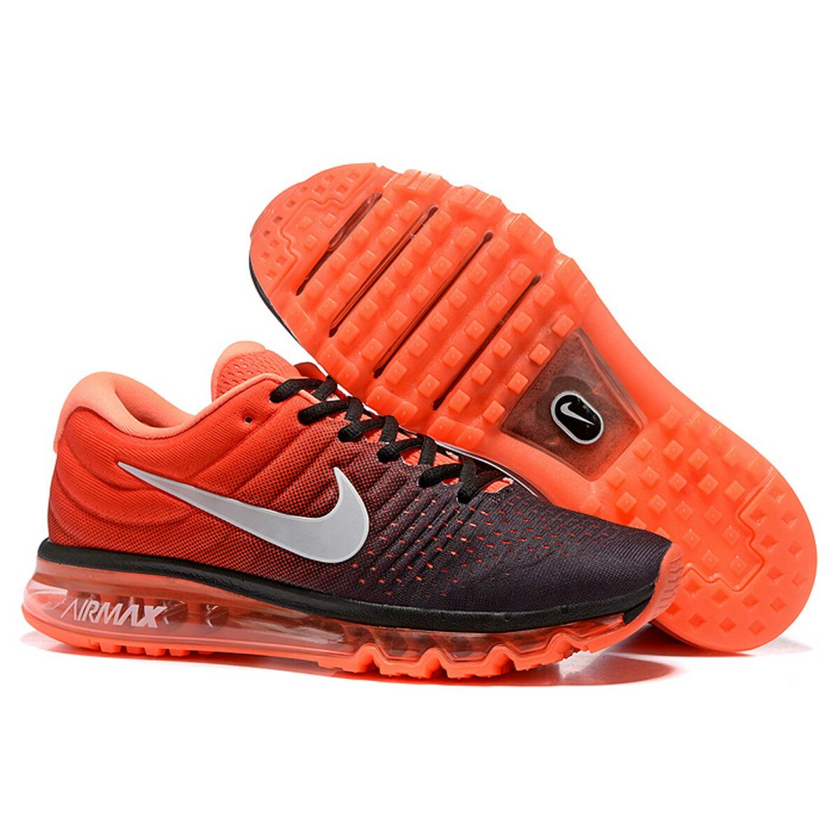 nike air max 2017 black orange 849559-100 купить