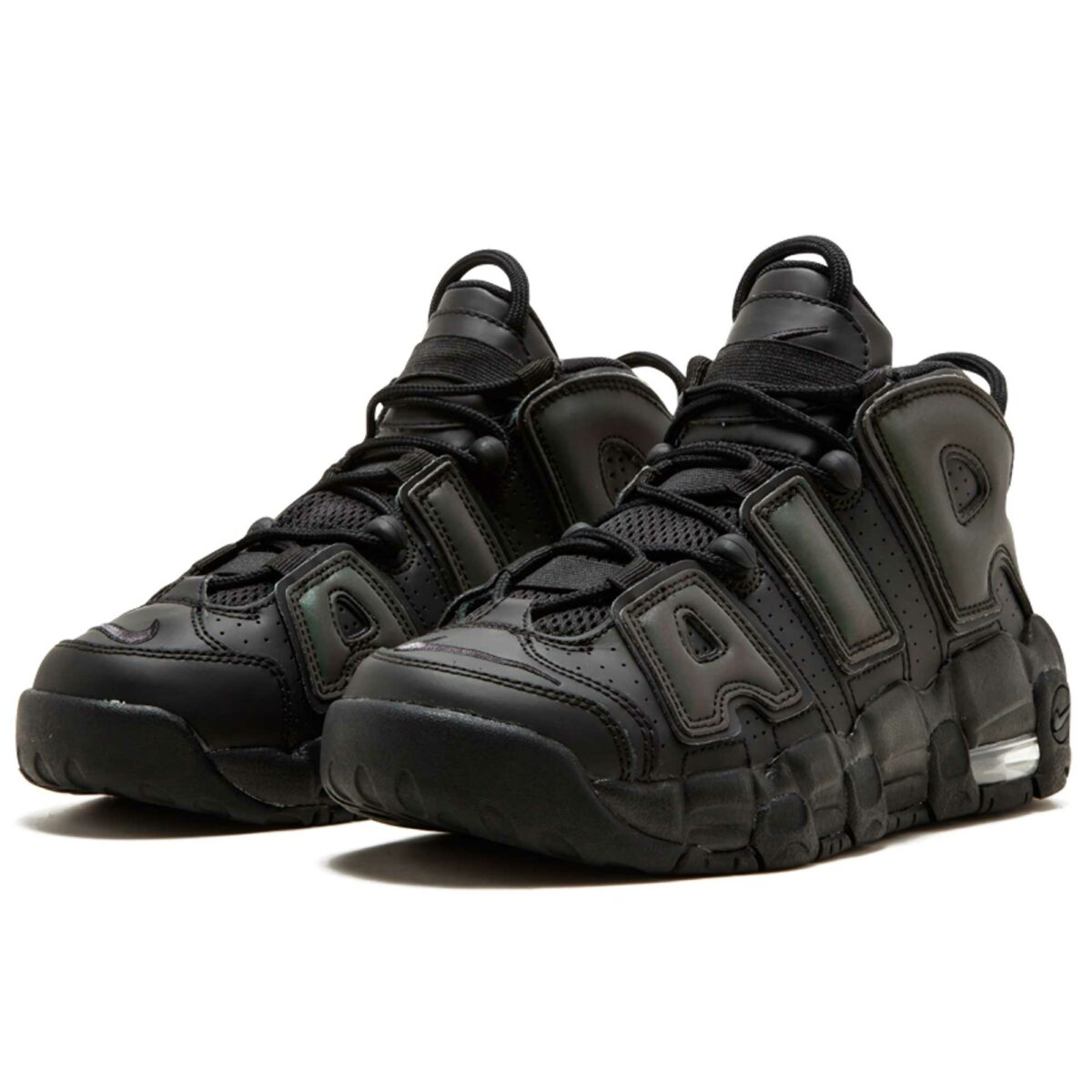 nike air more uptempo black glowing SE (GS) 922845_001 купить