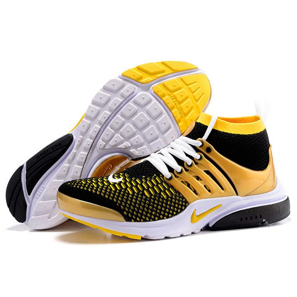 nike air presto black yellow