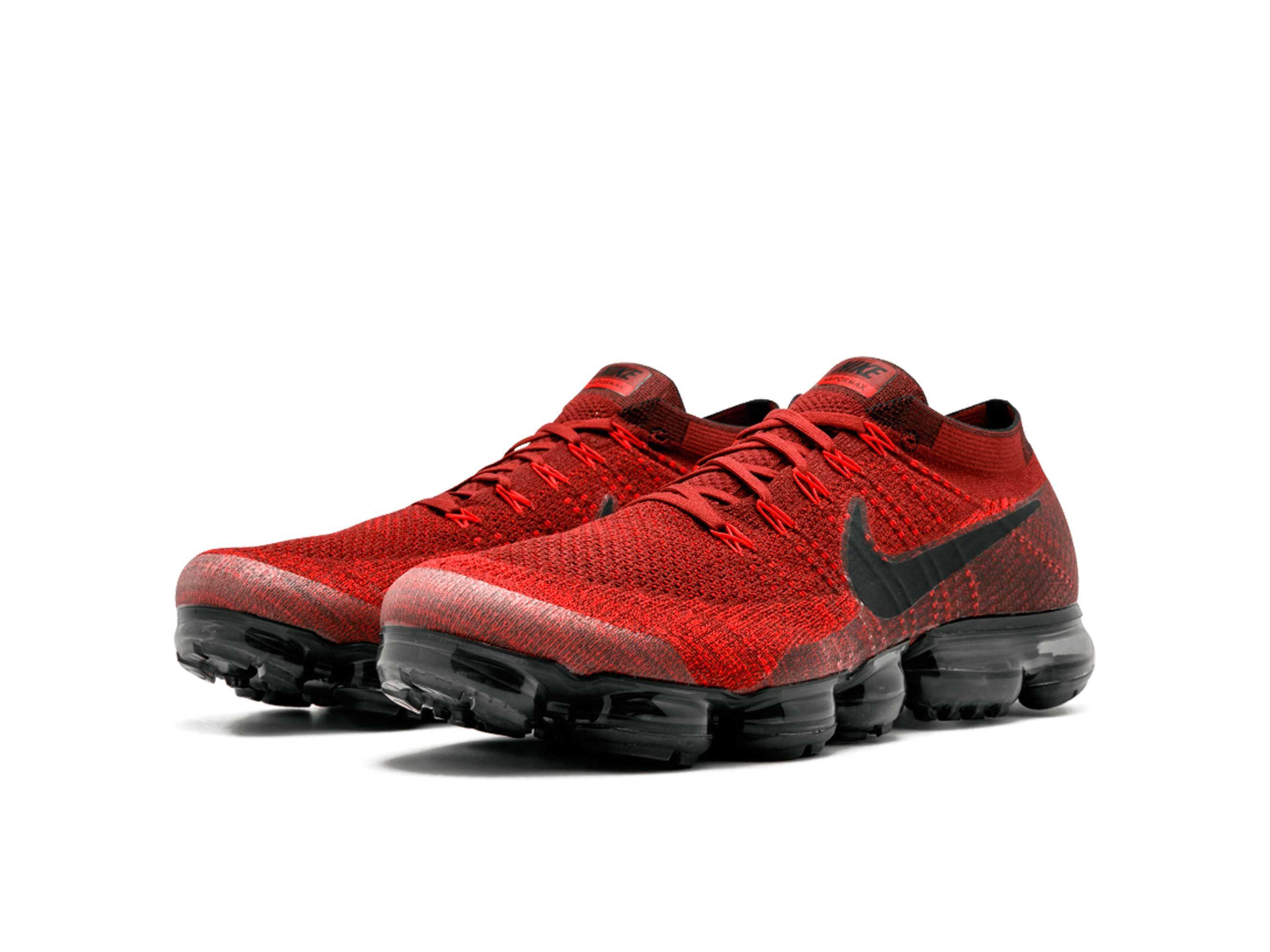 nike air vapormax flyknit dark team red black 849558_601 купить