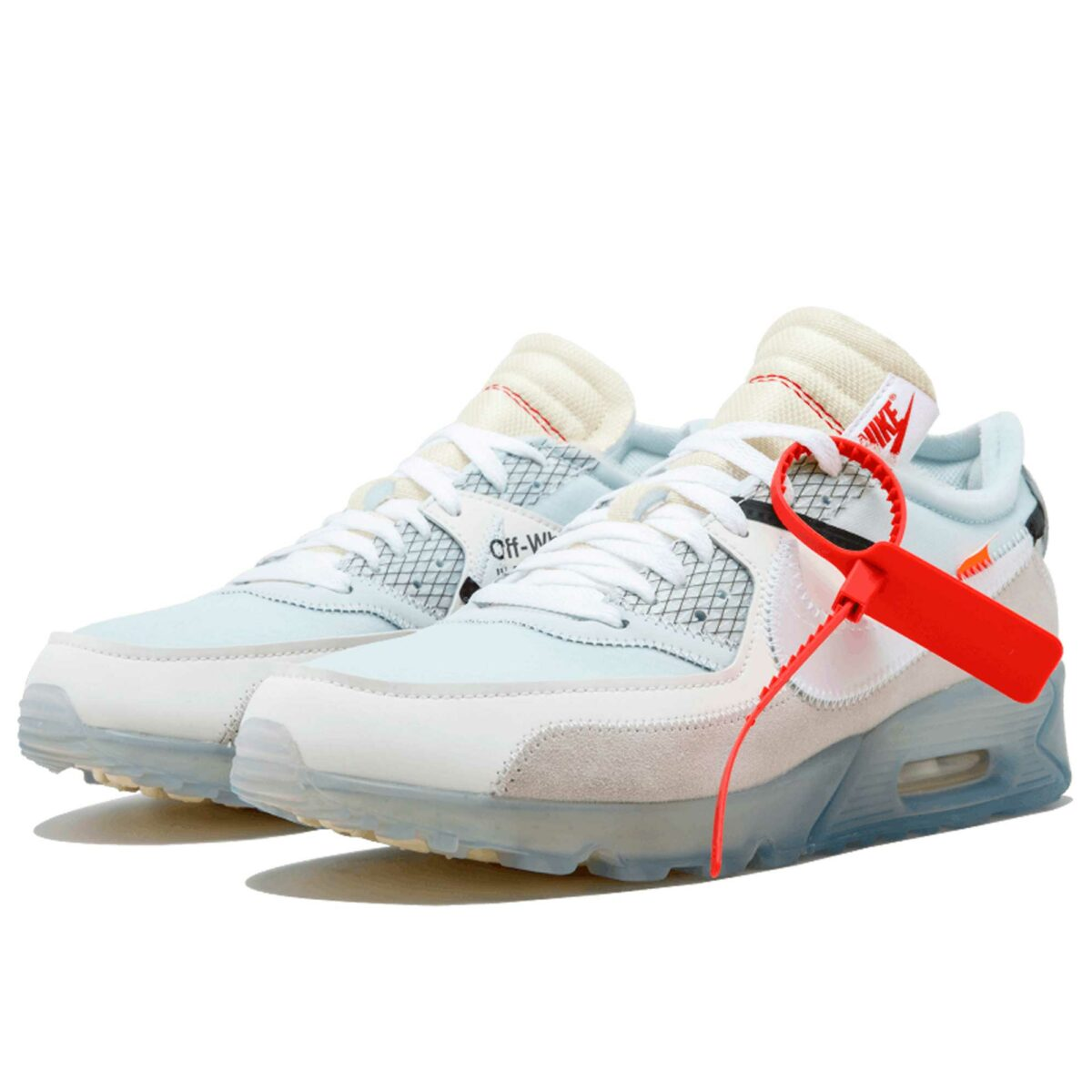 off white x nike air max 90 sail white muslin AA7293_100 купить