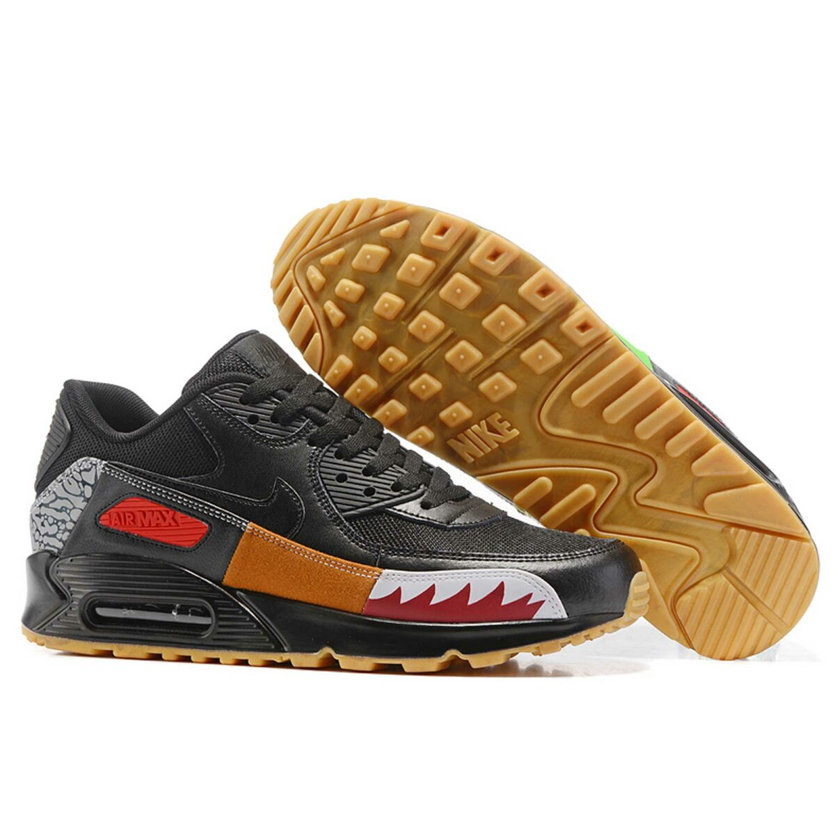 nike air max 90 premium QS atmos safari black multi-color купить