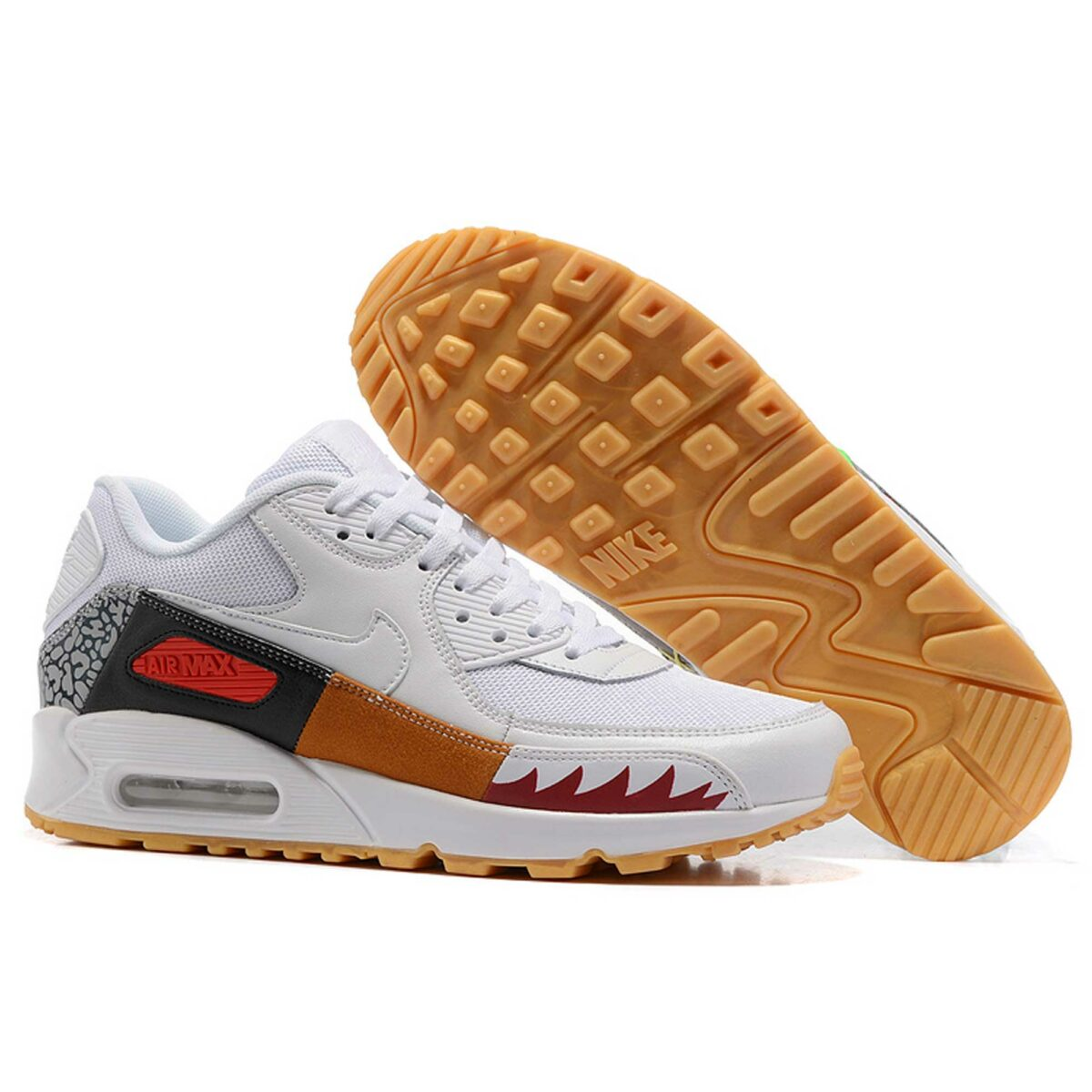 nike air max 90 premium QS atmos white brown multi-color купить