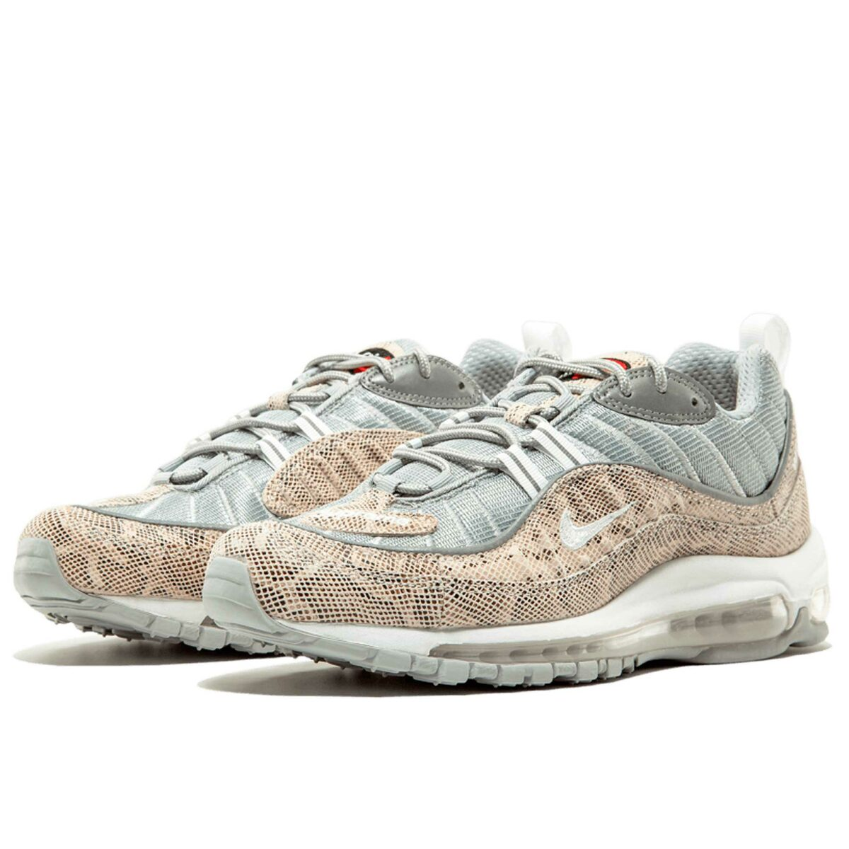 nike air max 98 supreme white silver 844694_100 купить