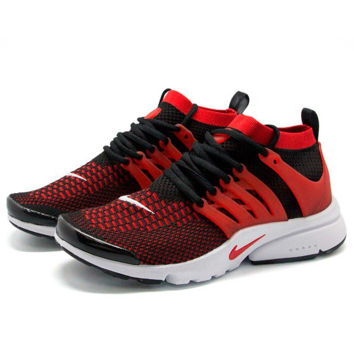 nike air presto black red купить