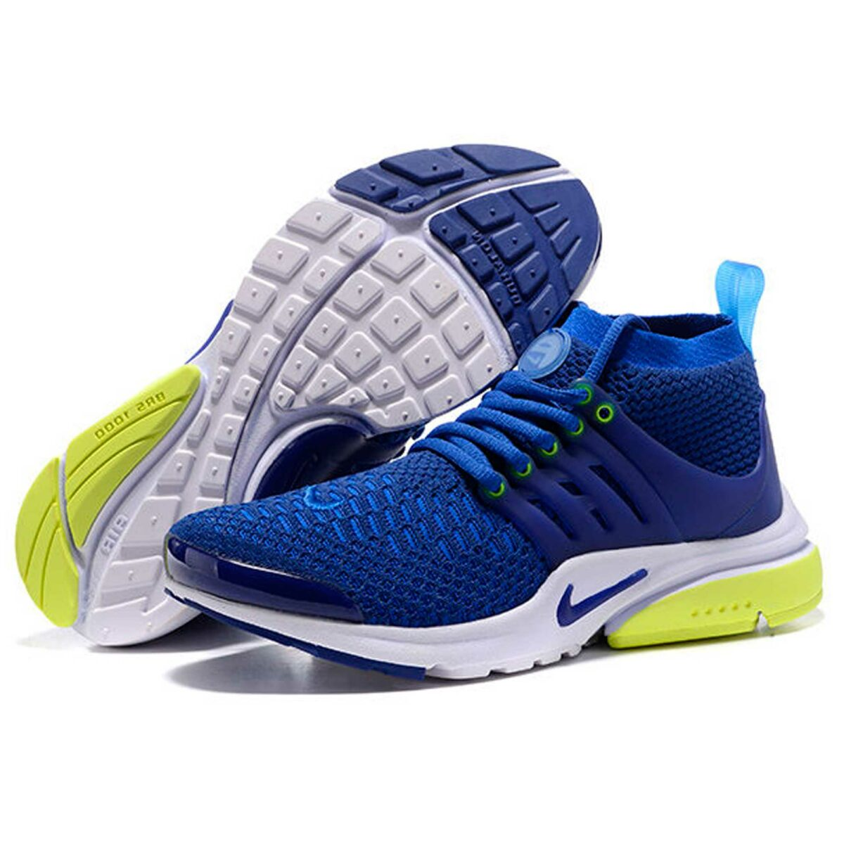 nike air presto blue white volt купить