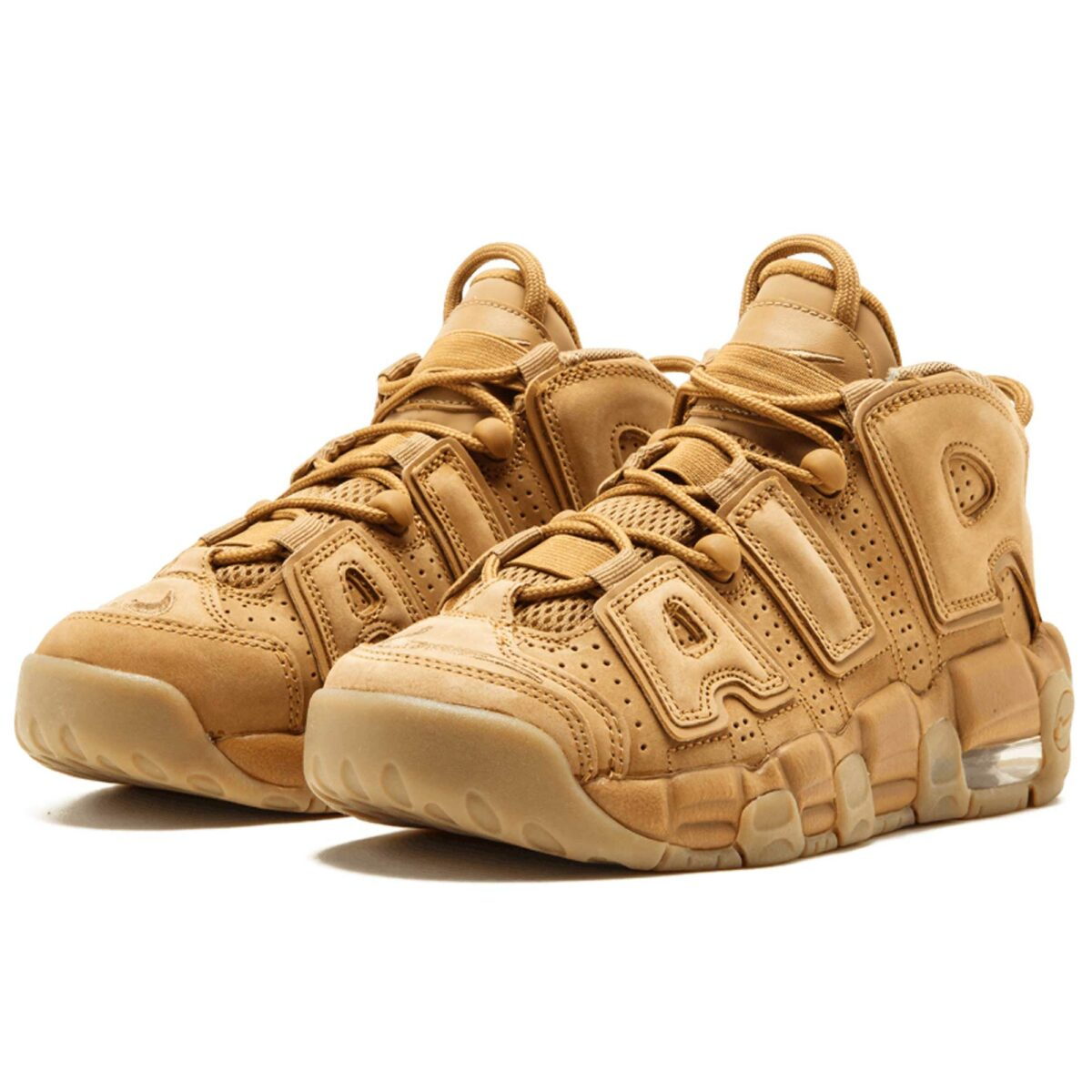 nike air more uptempo se (gs) flax-gum light brown 922845_200 купить