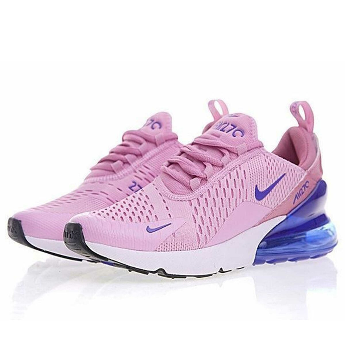 nike air max 270 pink blue white купить