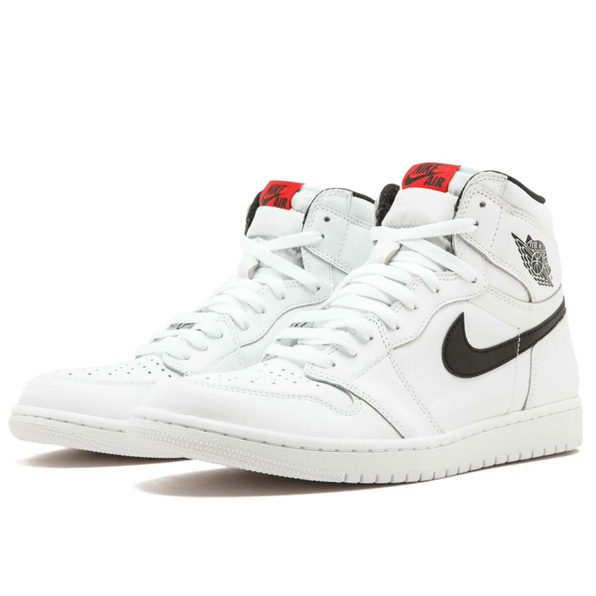 nike air Jordan 1 retro high og white black 555088_102 купить