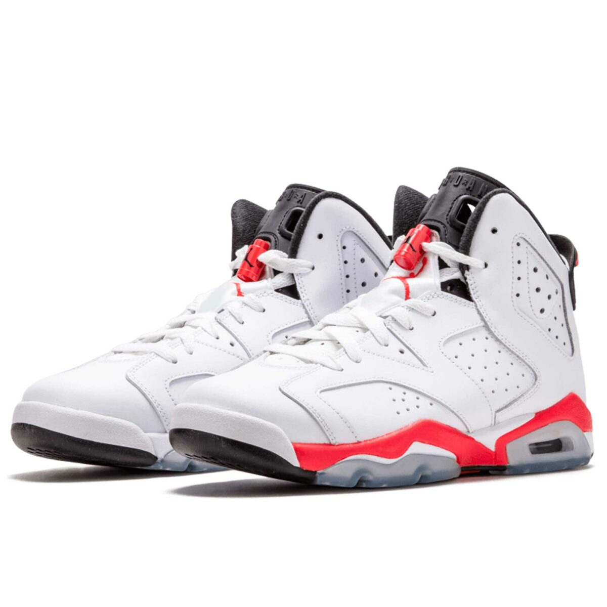 nike air Jordan 6 retro BG white red black 384665_123 купить