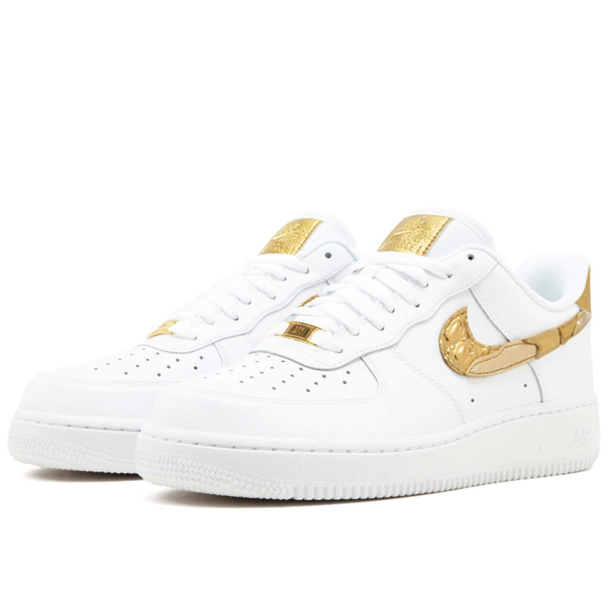 nike air force 1'07 white gold AQ0666_100 купить