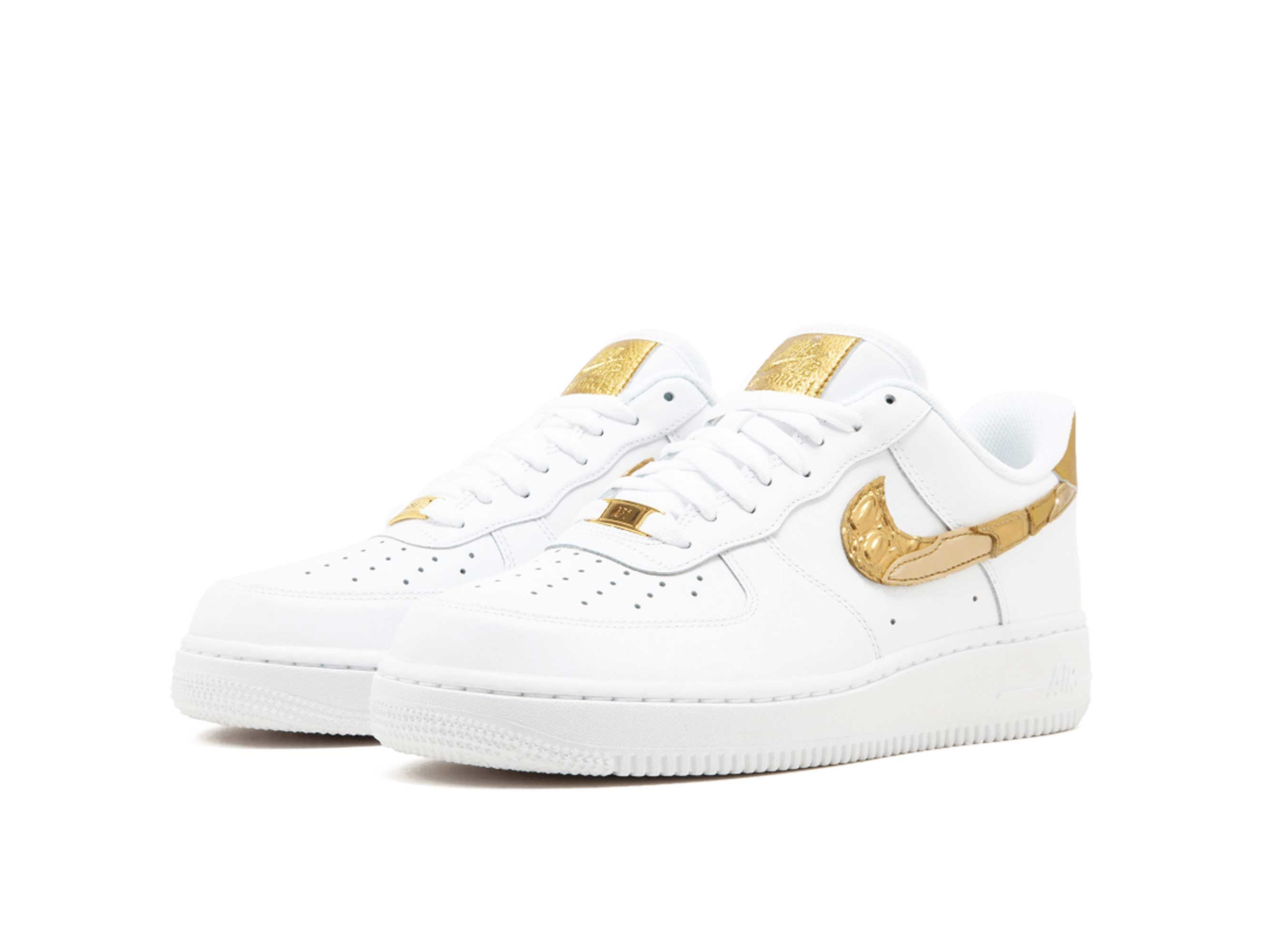 nike air force 1'07 white gold AQ0666_100 купить