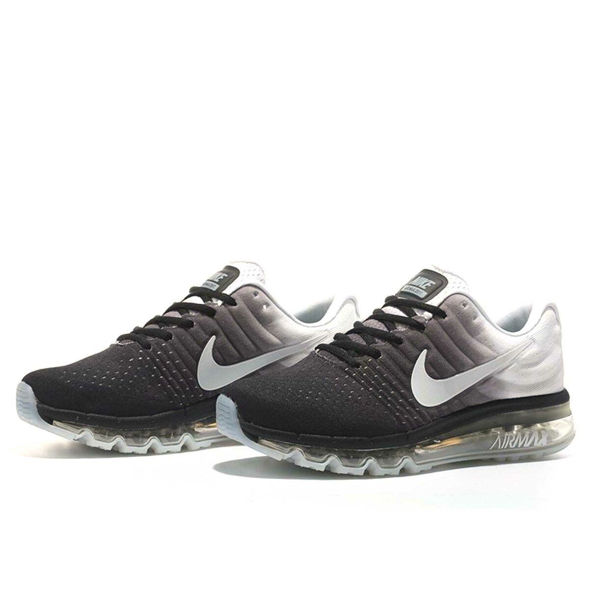 nike air max 2017 black white купить