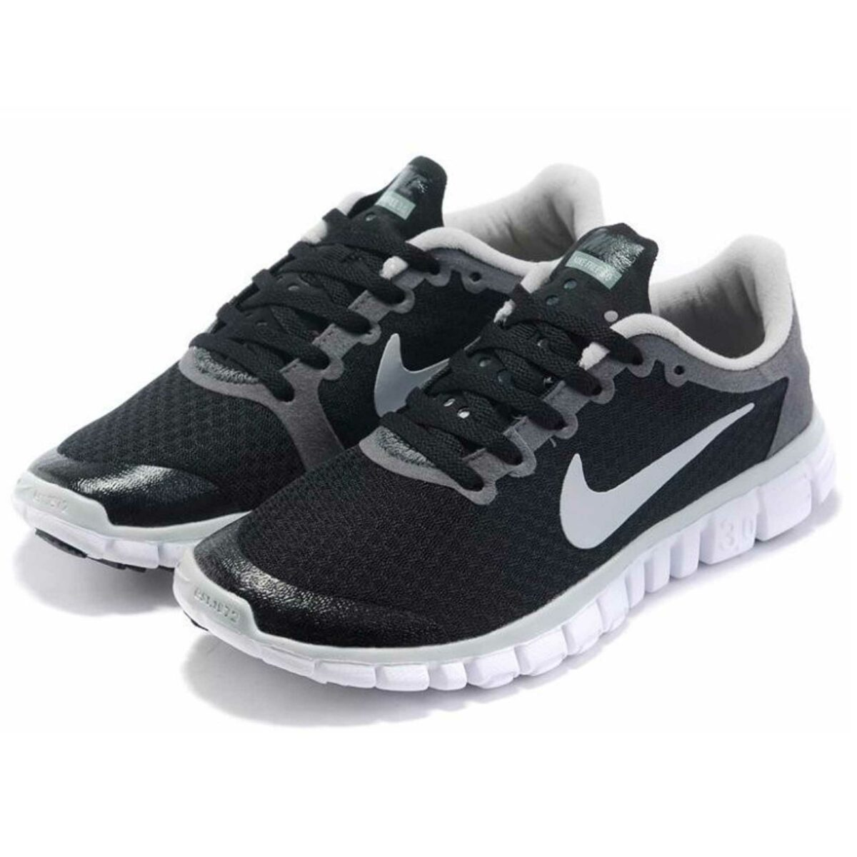 nike free 3.0.2 mens running shoes black grey 354574_001 купить