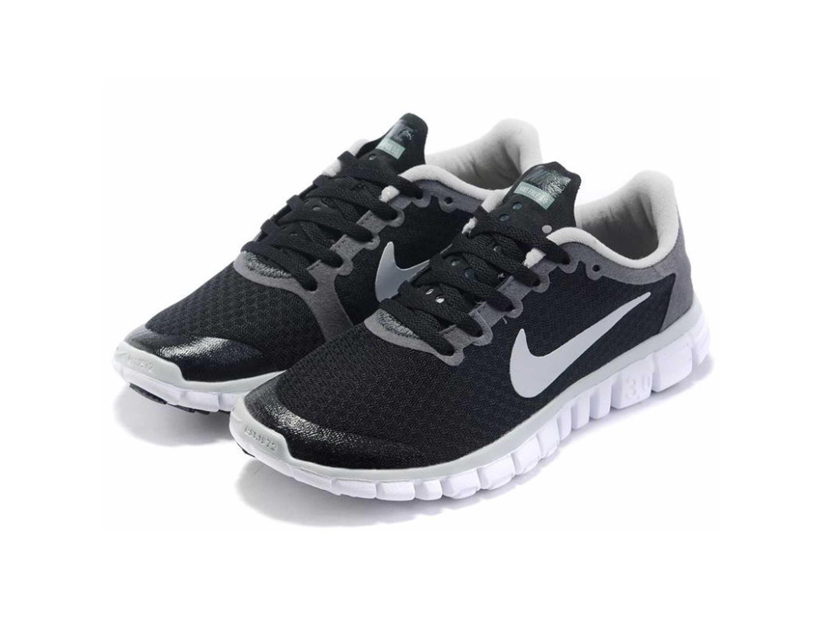 nike free 3.0.2 mens running shoes black grey 354574_001 купить