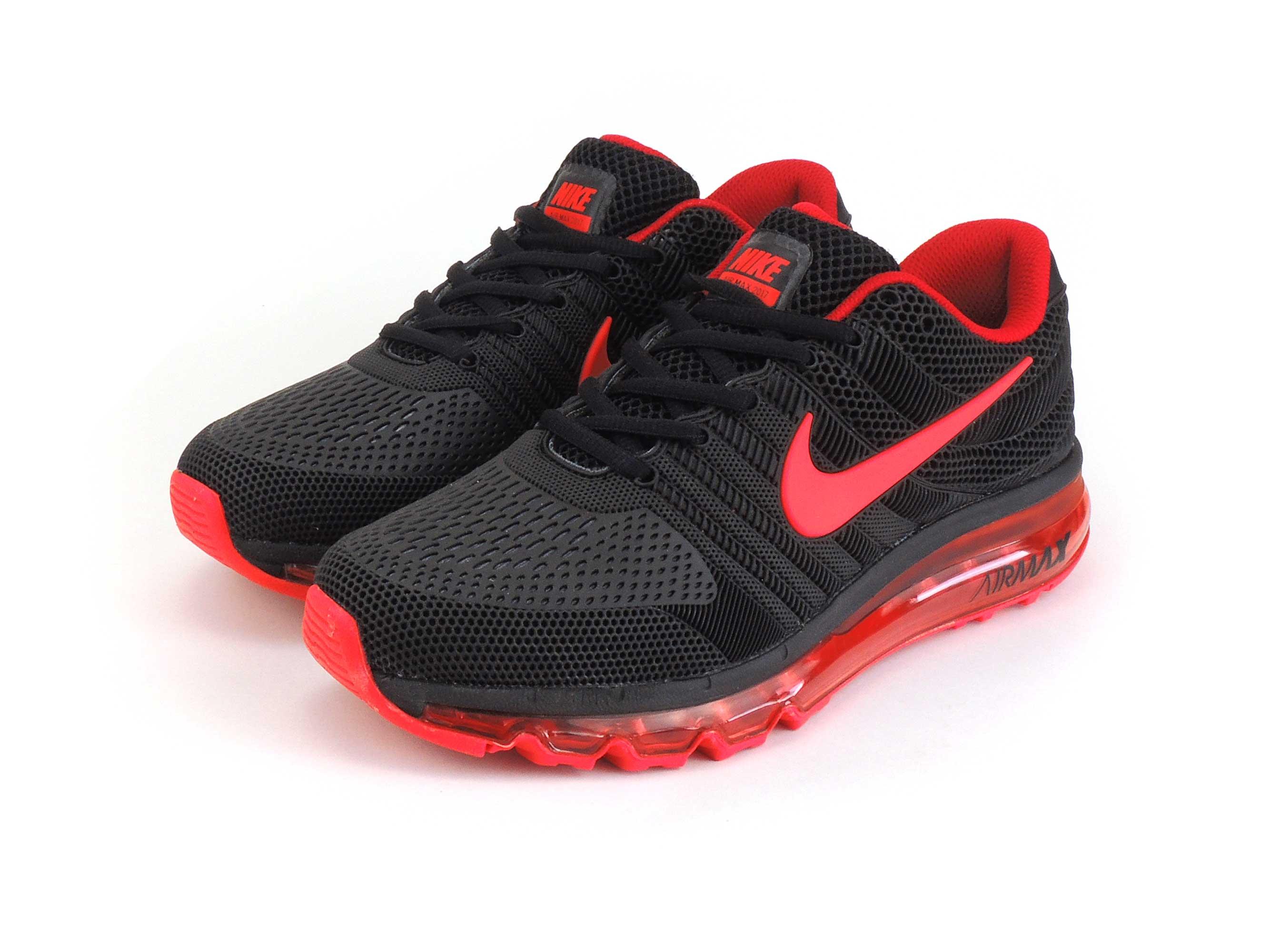 nike air max 2017 black red купить