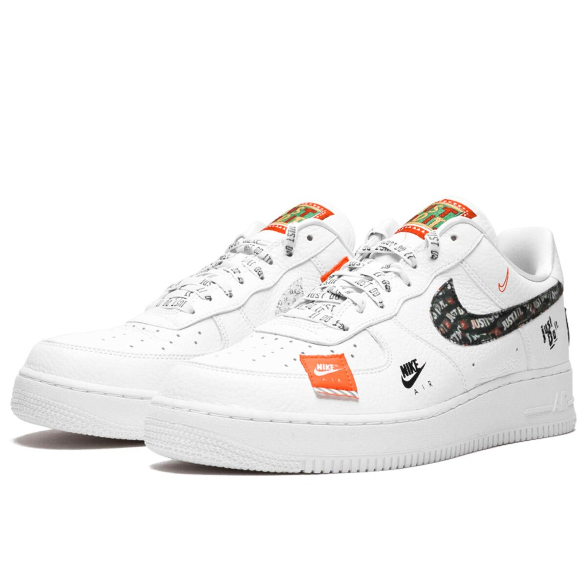 nike air force 1'07 white black total orange AR7719_100 купить