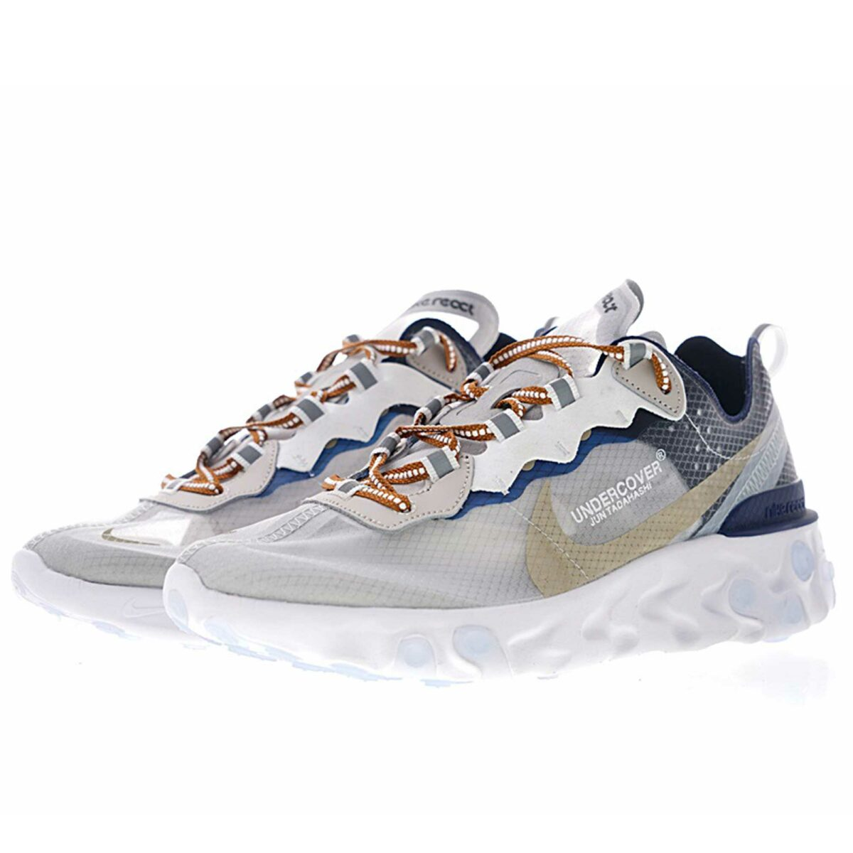 undercover x nike react element 87 white blue aq1813_343 купить