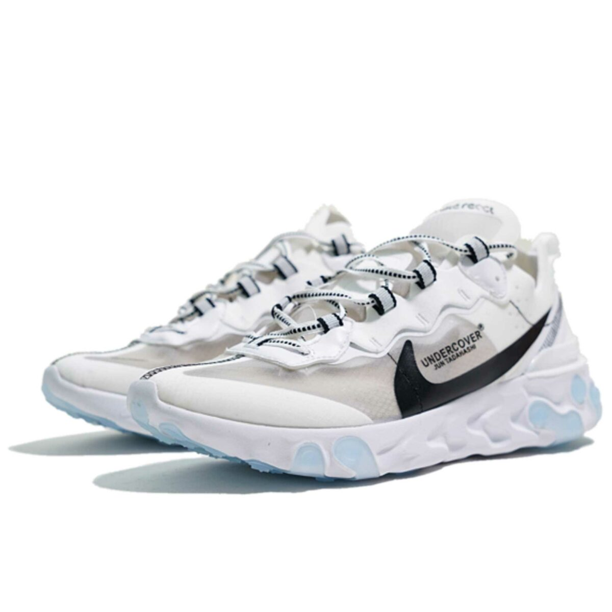 undercover x nike react element 87 white black купить