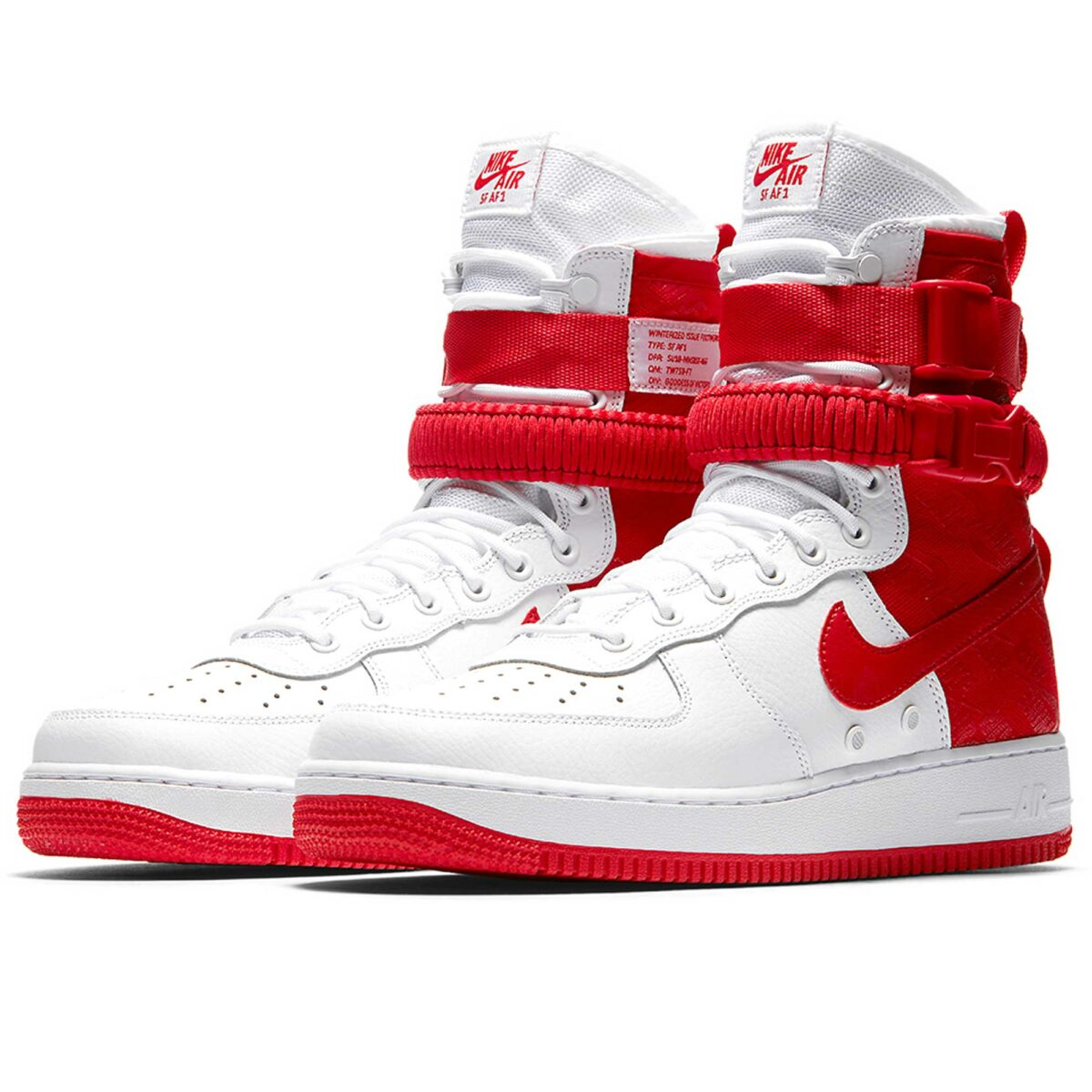 nike sf air force 1 white red ar1955_100 купить