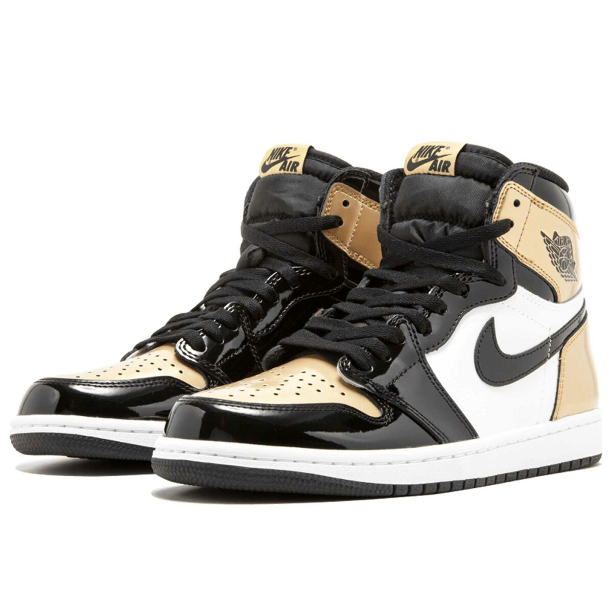 air Jordan 1 retro high og black gold 861428_007 купить